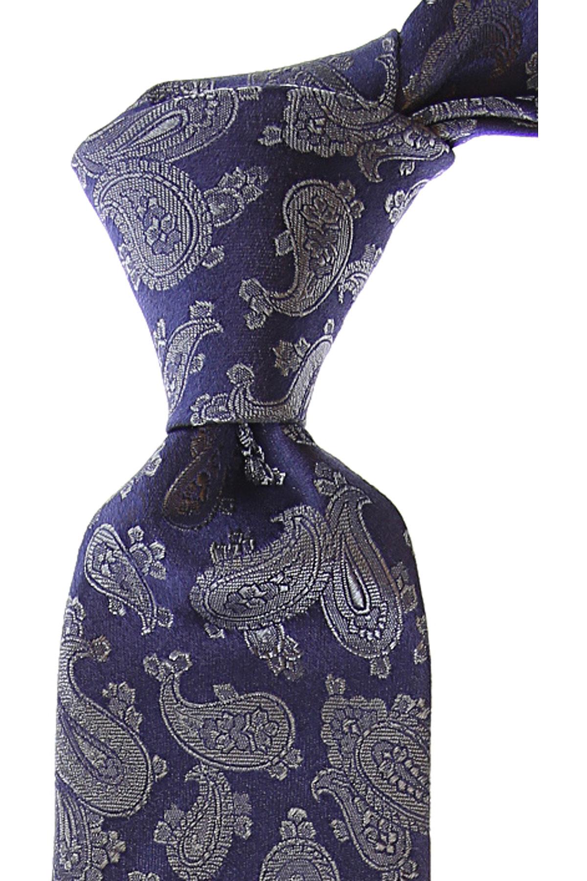 Fefe Napoli Cravates Pas cher en Soldes, Bleu, Soie, 2019