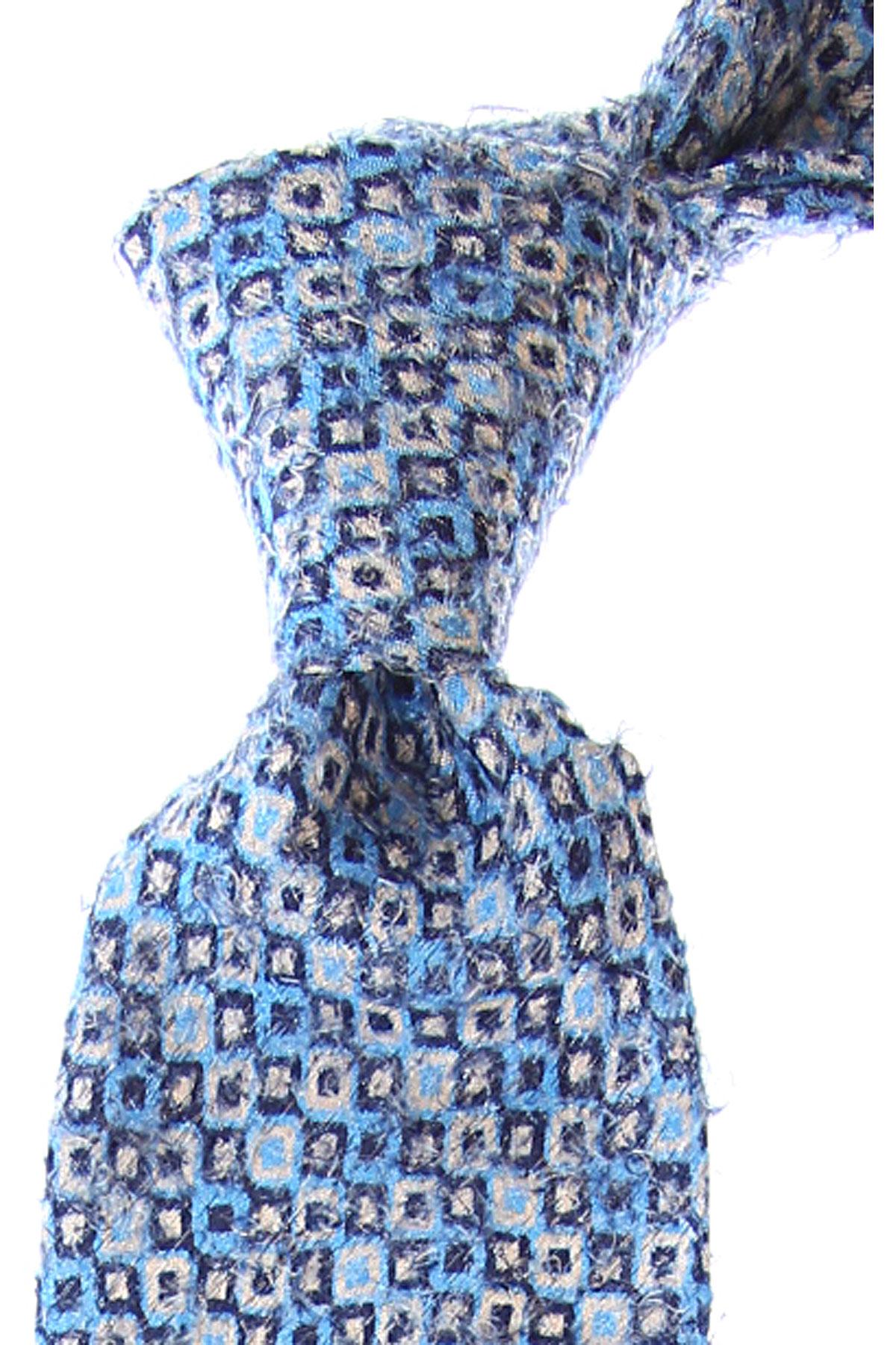 Fefe Napoli Cravates Pas cher en Soldes, Bleu ciel, Soie, 2019