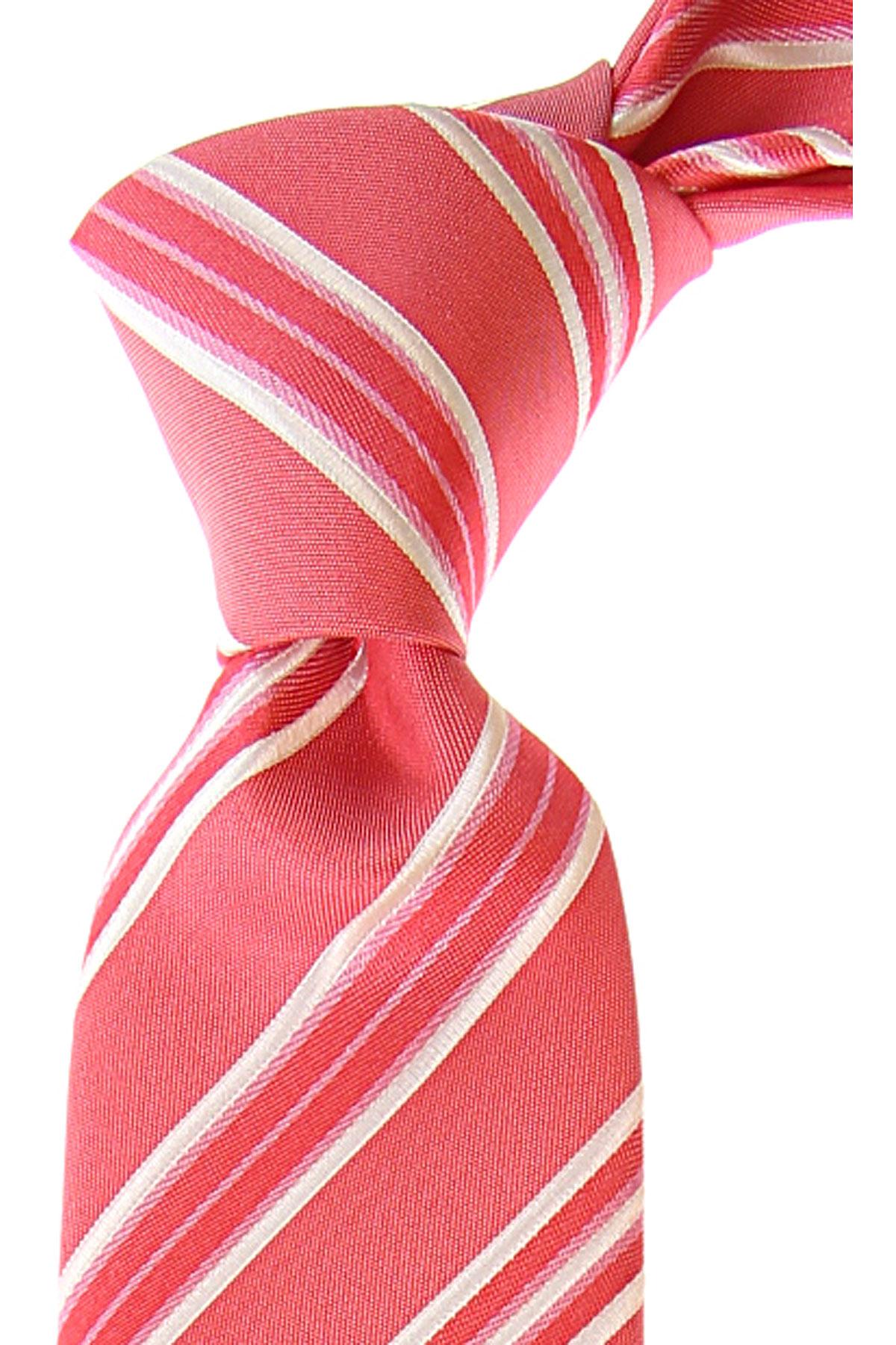 Fefe Napoli Ties On Sale, Coral Pink, Silk, 2019