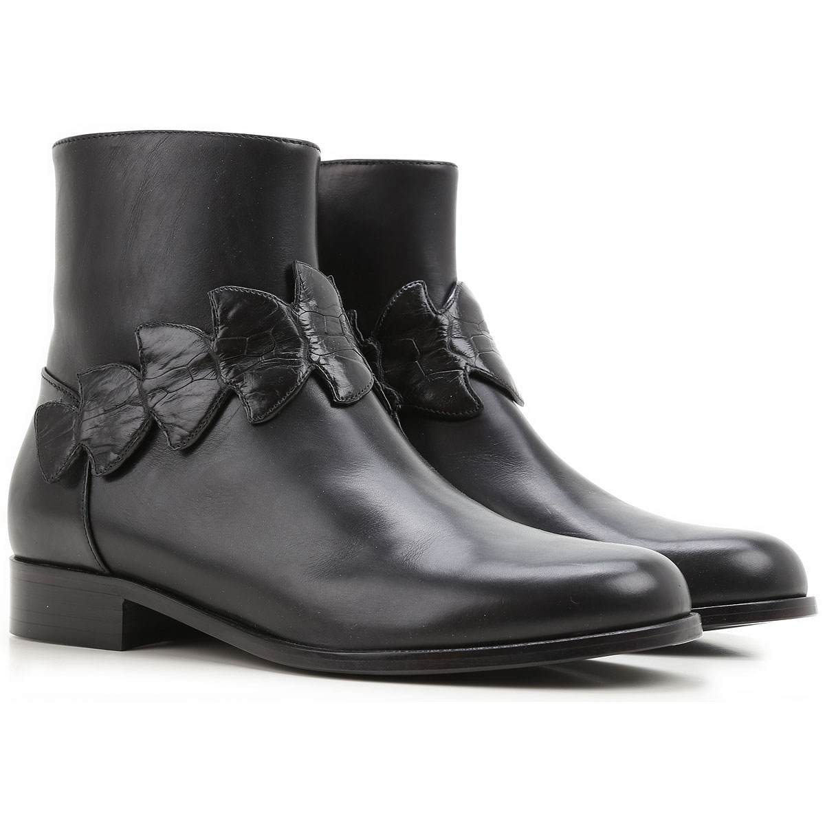 Fendi Boots for Women, Booties On Sale in Outlet, Black, Leather, 2019, 6 8 8.5
