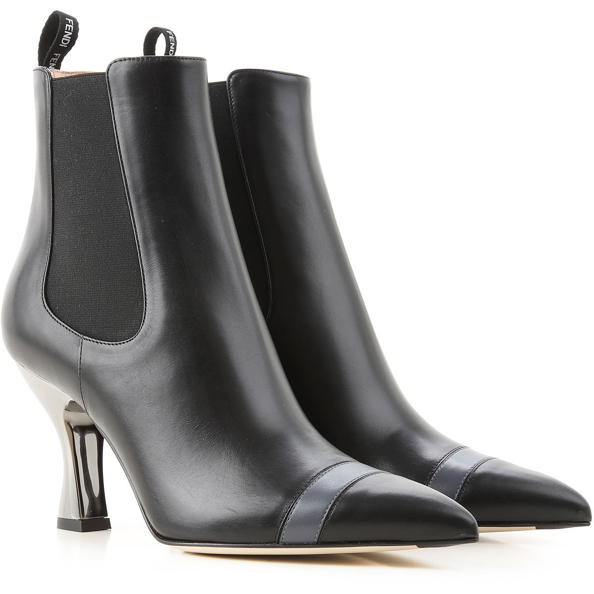 Fendi Boots for Women, Booties On Sale, Black, Leather, 2019, 10 5 5.5 6 6.5 7 8 8.5 9