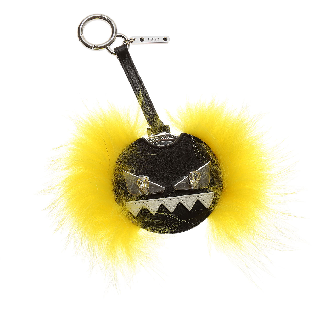 Image of Fendi Key Chain for Women, Key Ring On Sale, Yellow, Leather, 2017