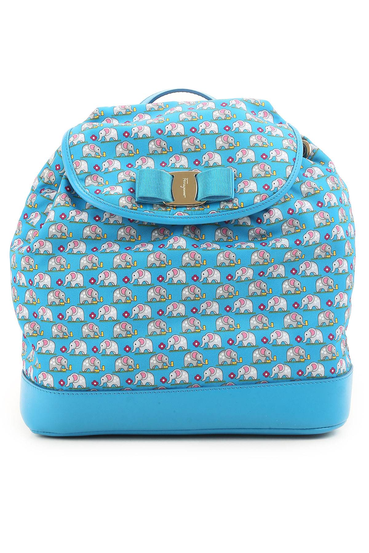 Image of Salvatore Ferragamo Backpack for Women On Sale in Outlet, Light Blue, Nylon, 2017
