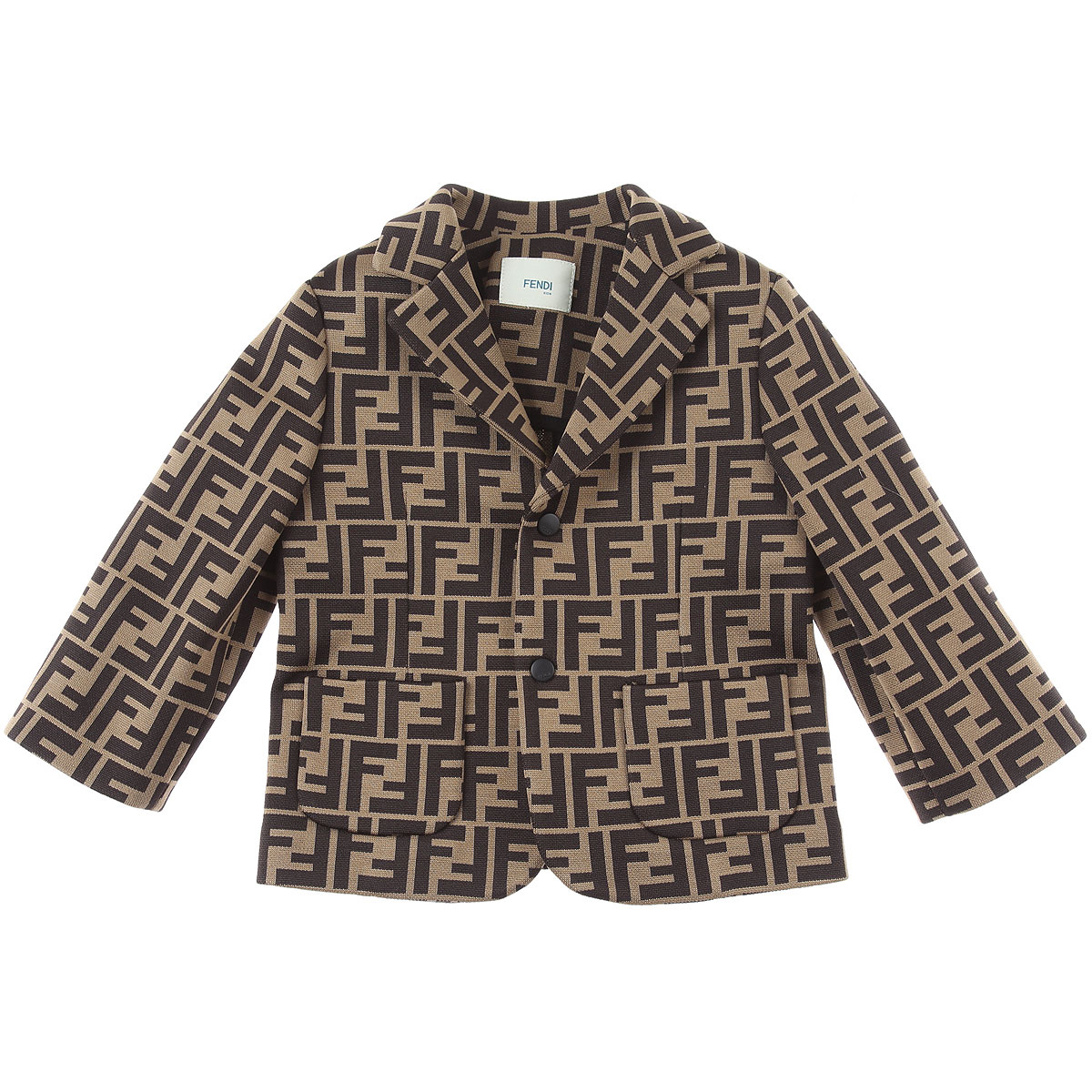 Fendi Baby Blazer for Boys On Sale, Brown, Cotton, 2019, 12 M 2Y