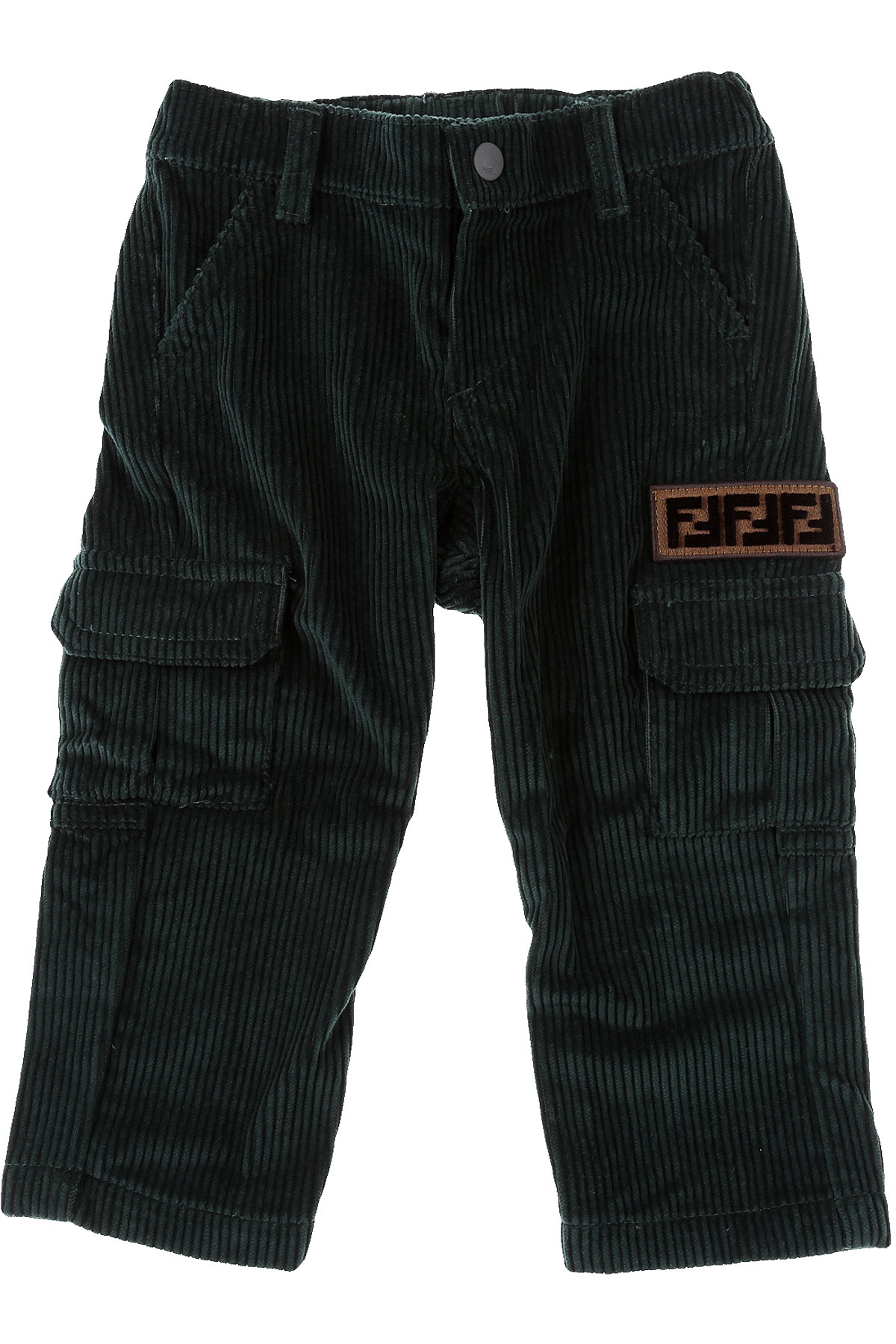 Fendi Baby Pants for Boys On Sale, Forest Green, Cotton, 2019, 18 M 9 M