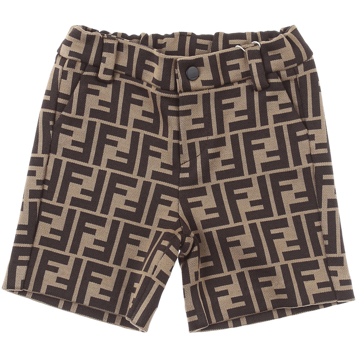 Fendi Baby Shorts for Boys On Sale, Brown, Cotton, 2019, 12 M 6M 9 M