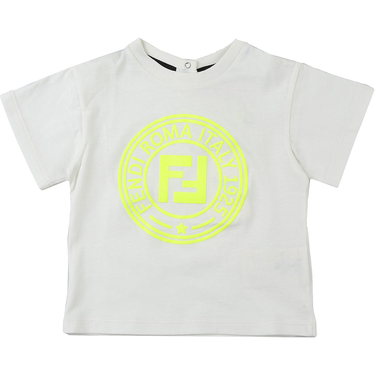 Fendi Baby T-Shirt for Boys On Sale, Ivory, Cotton, 2019, 12 M 18M 6M 9M