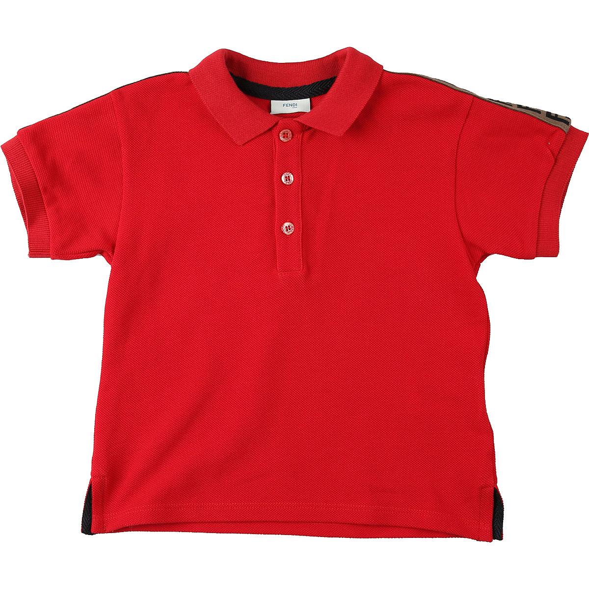Fendi Baby Polo Shirt for Boys On Sale, Red, Cotton, 2019, 12 M 18M 2Y