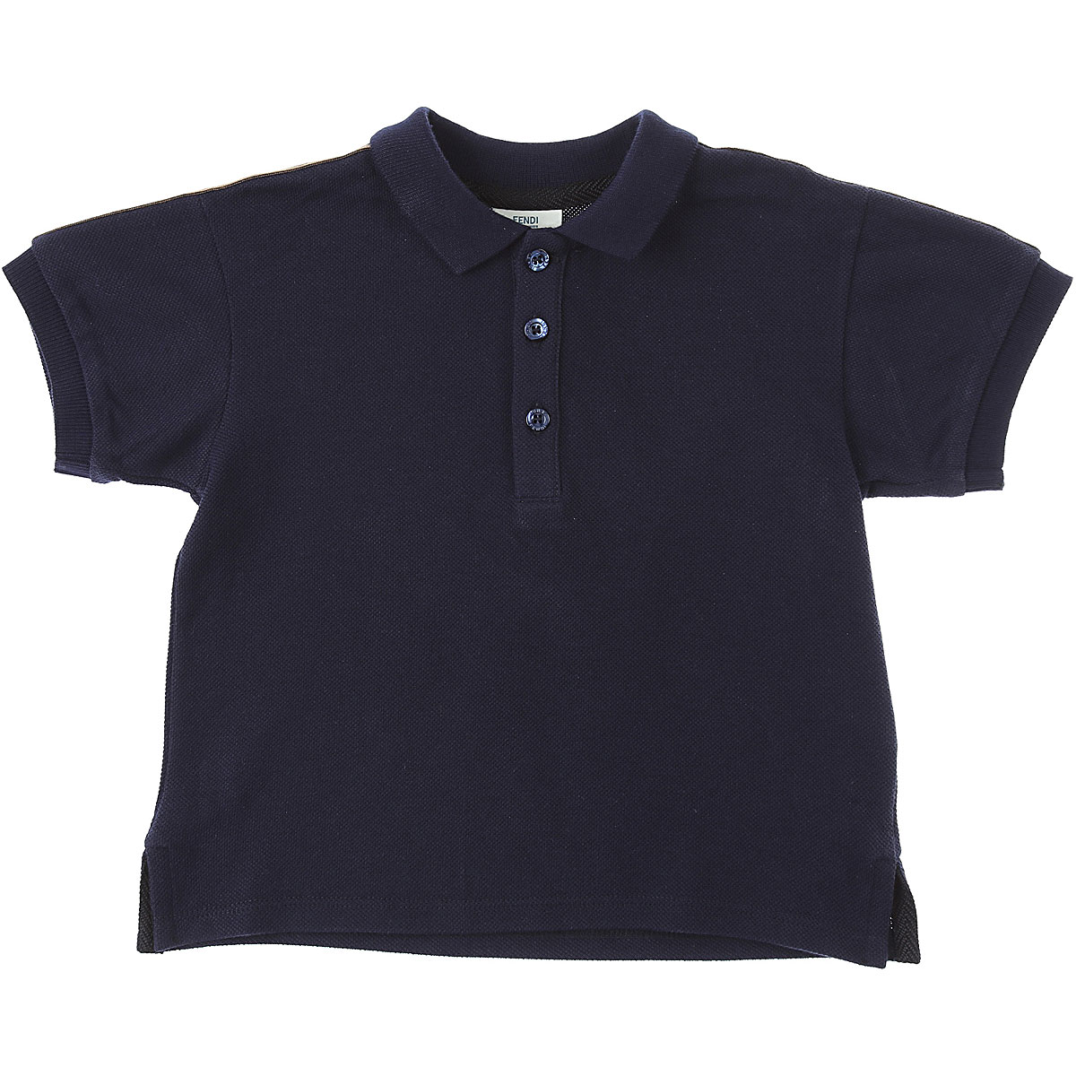 Fendi Baby Polo Shirt for Boys On Sale, Blue, Cotton, 2019, 12 M 18M 2Y