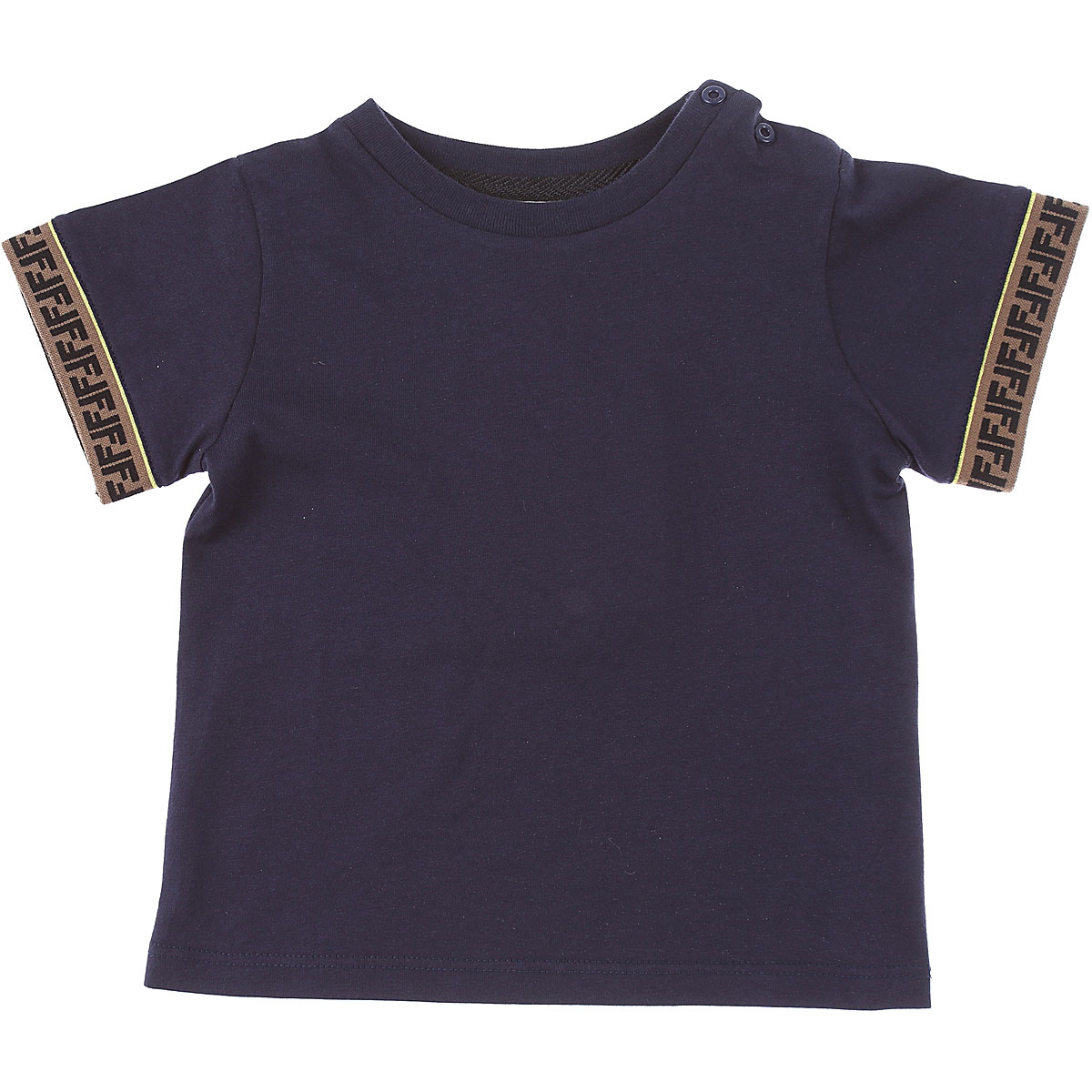 Fendi Baby T-Shirt for Boys On Sale, Blue, Cotton, 2019, 18M 2Y