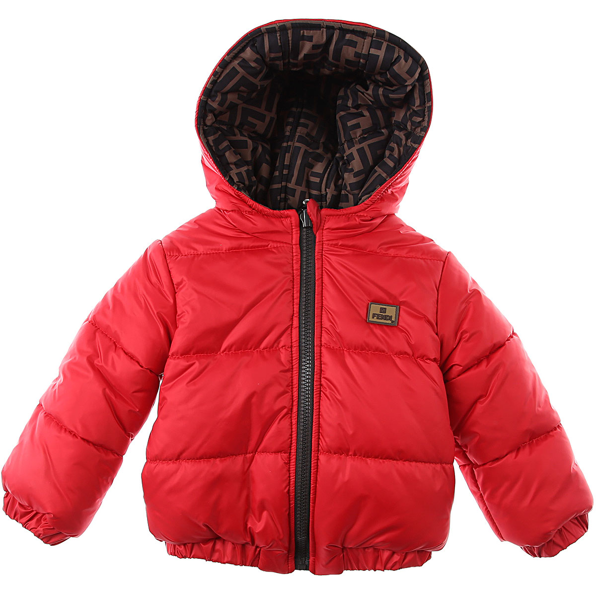 Fendi Baby Down Jacket for Boys On Sale, Red, polyester, 2019, 12 M 18M 2Y