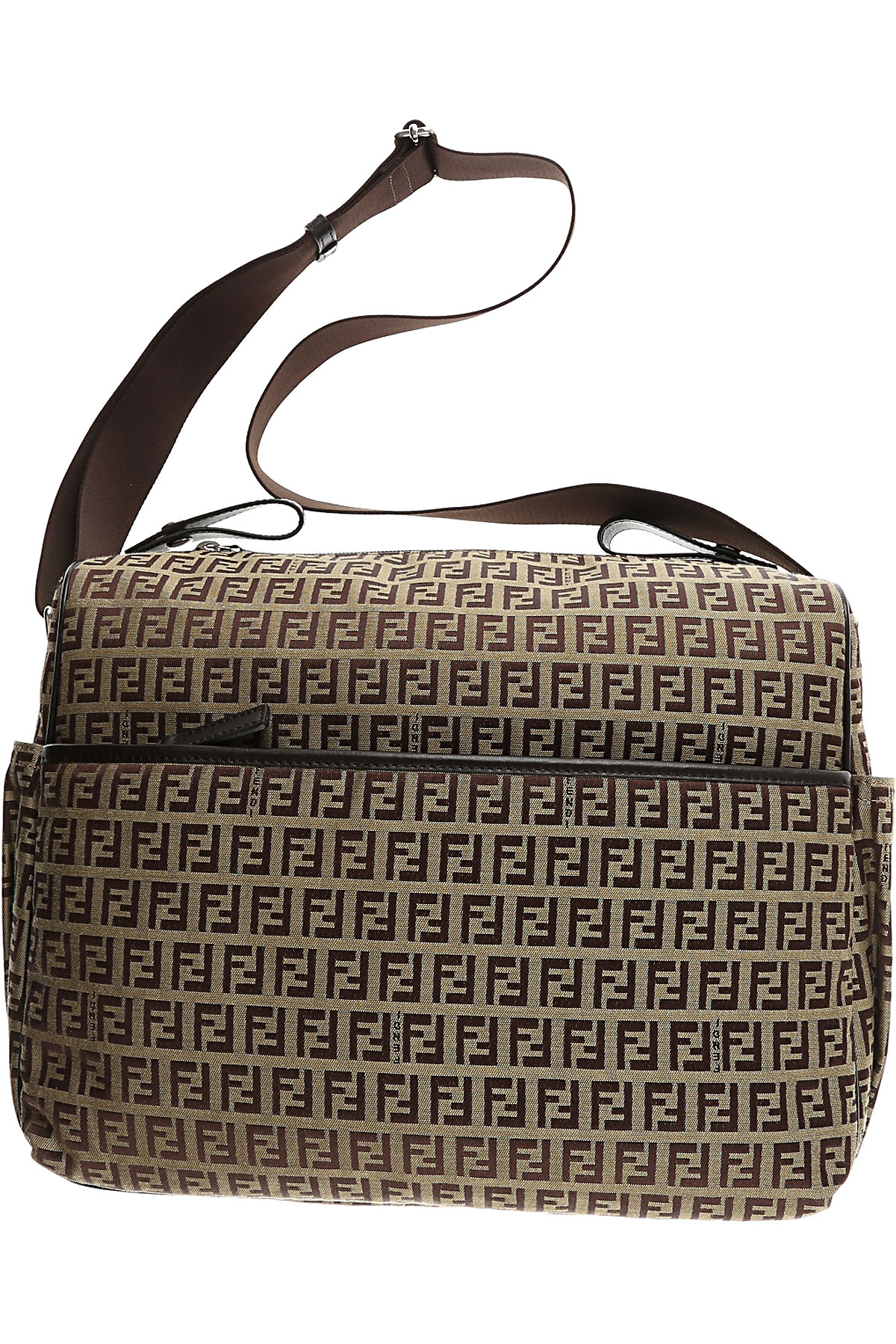 Image of Fendi Baby Girls Handbag, Brown, Fabric, 2017