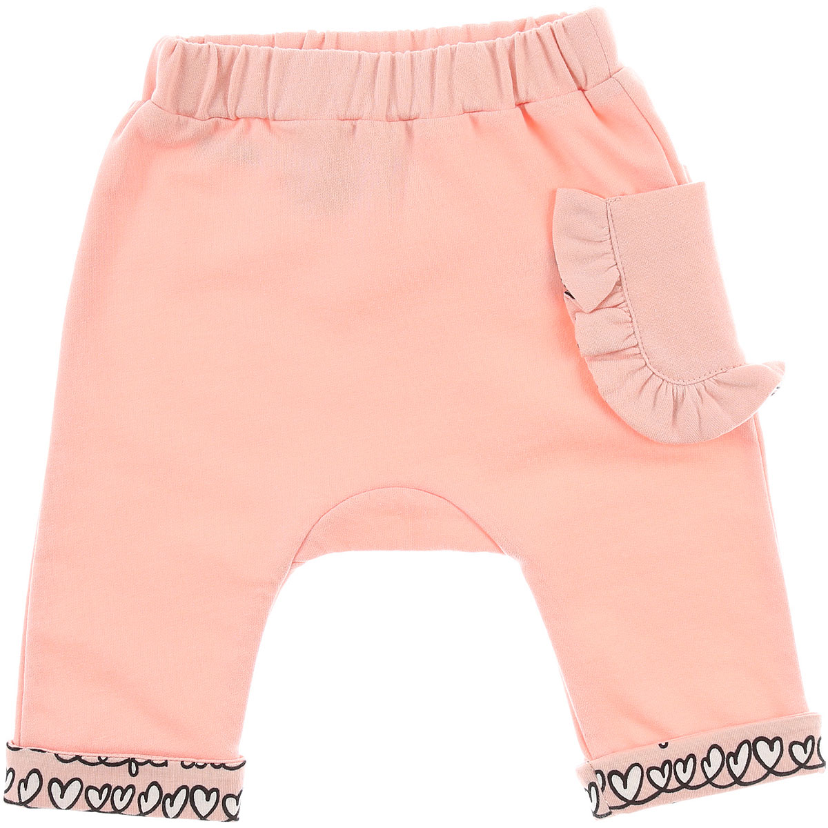 Image of Fendi Baby Pants for Girls, Pink, Cotton, 2017, 18M 3M 6M 9M