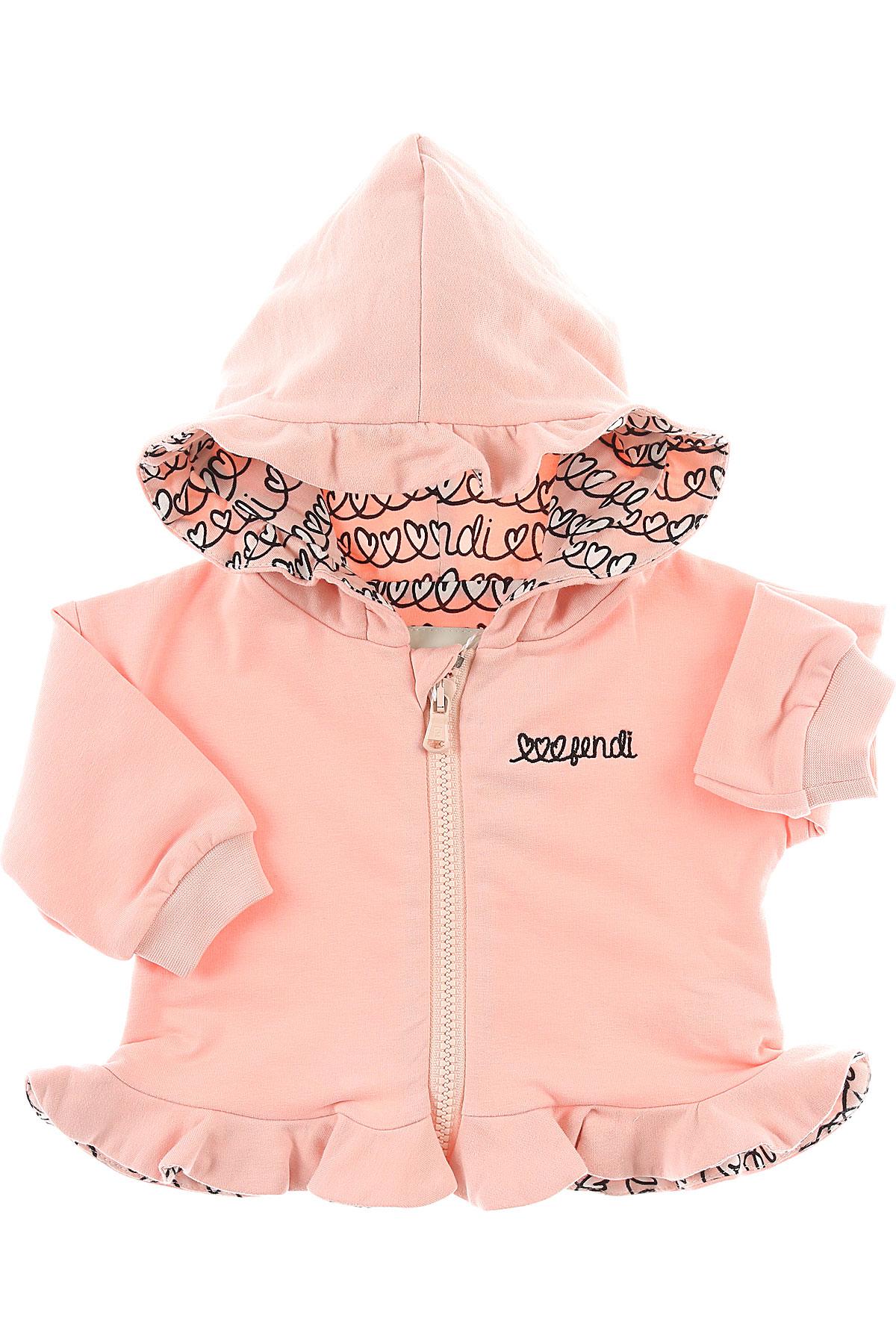 Image of Fendi Baby Sweatshirts & Hoodies for Girls, Pink, Cotton, 2017, 18M 3M 6M 9M