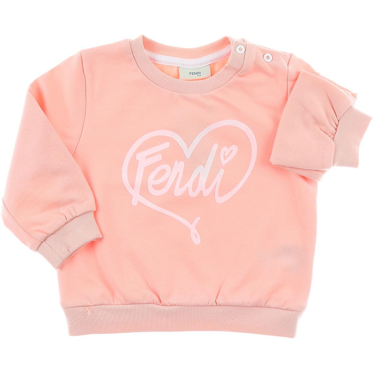 Image of Fendi Baby Sweatshirts & Hoodies for Girls, Pink, Cotton, 2017, 12M 18M 2Y 6M 9M