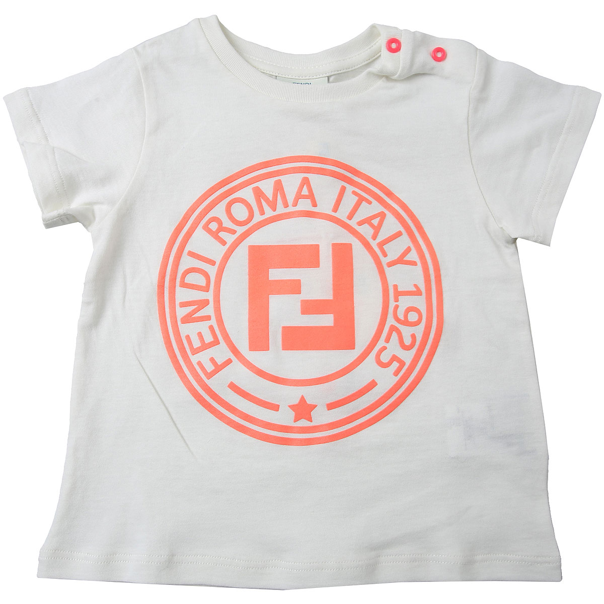 Fendi Baby T-Shirt for Girls On Sale, White, Cotton, 2019, 12M 18M 2Y 6M 9M