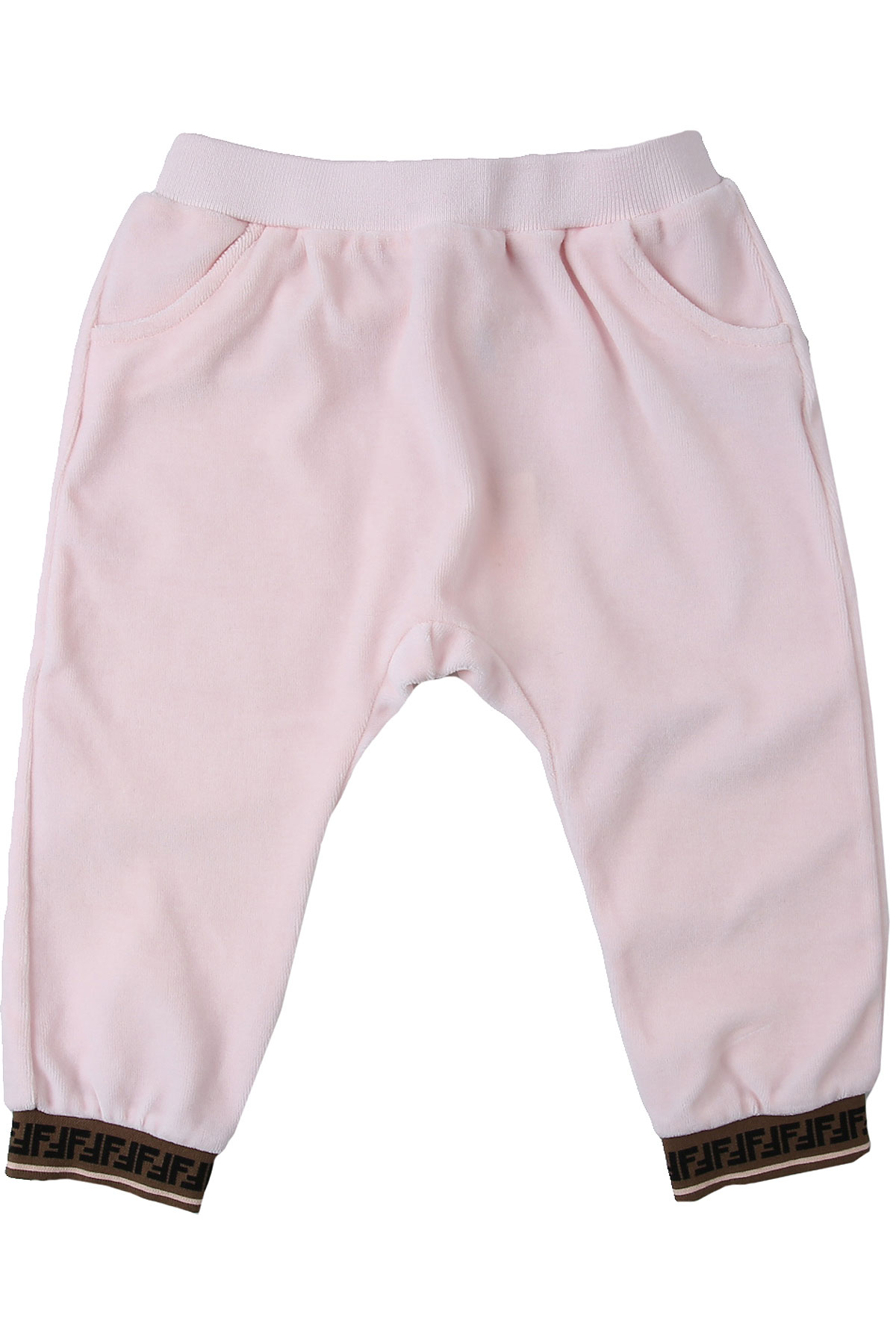 Fendi Baby Sweatpants for Girls On Sale, Pink, Cotton, 2019, 12M 18M 2Y