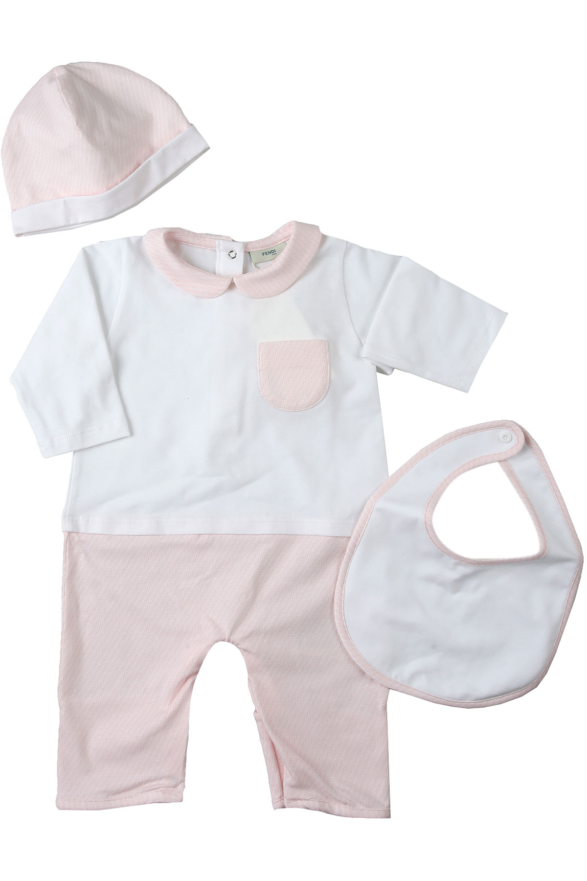 Fendi Baby Sets for Girls On Sale, White, Cotton, 2019, 1M 3M 6M