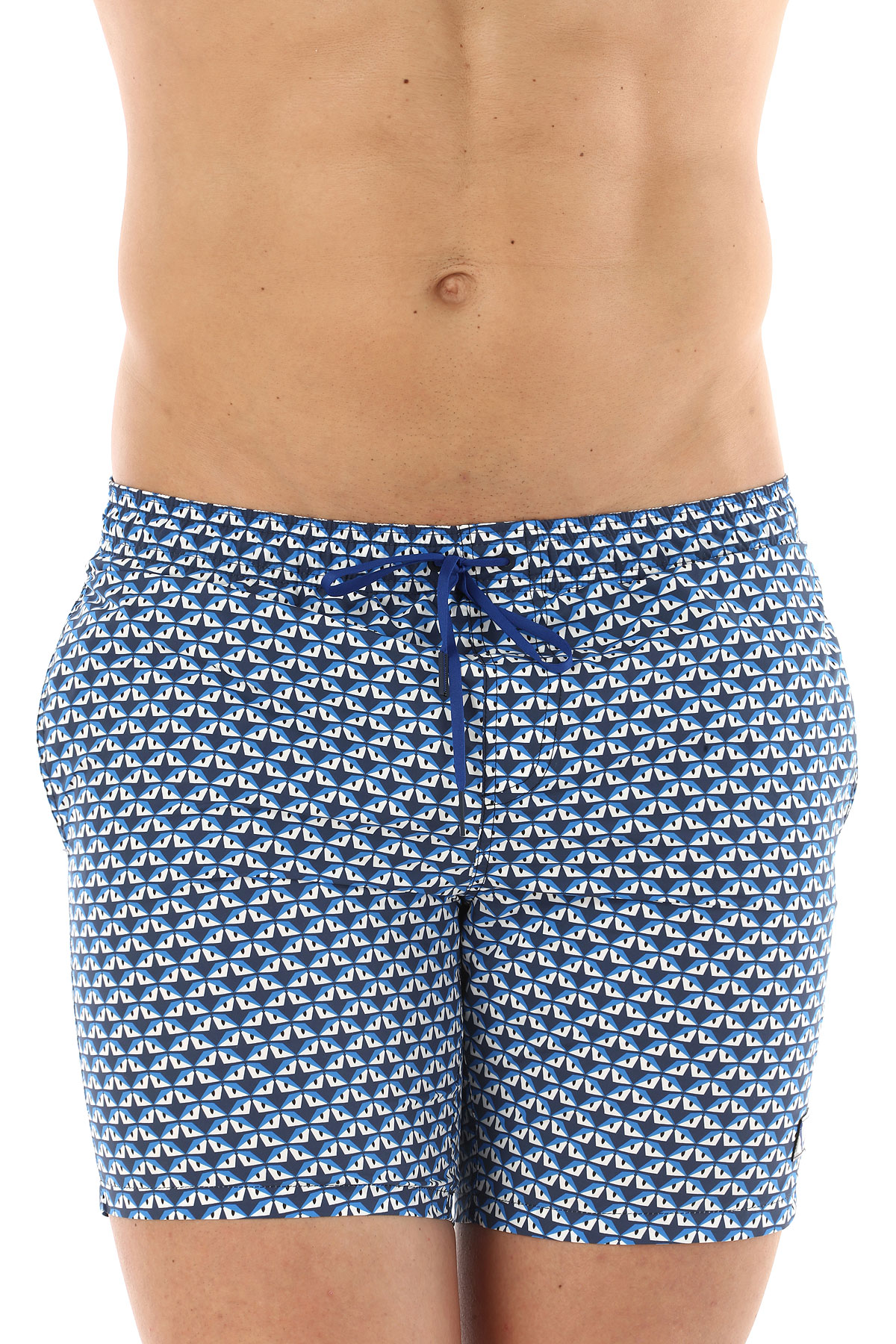 Image of Fendi Mens Swimwear On Sale in Outlet, Blue, poliammide, 2017, XS (EU 44) XL (EU 52)