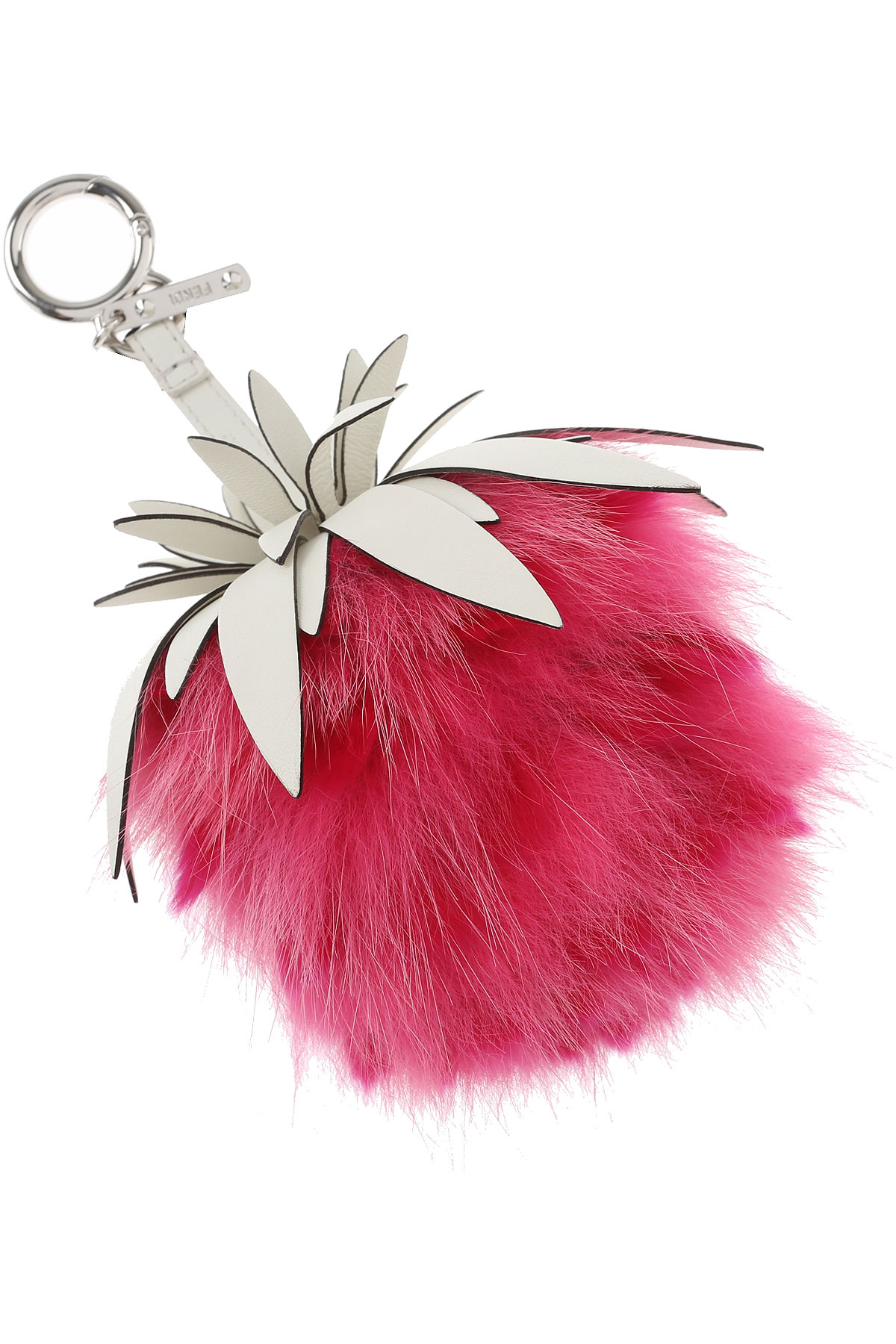 Image of Fendi Key Chain for Women, Key Ring On Sale, Pink, Leather, 2017