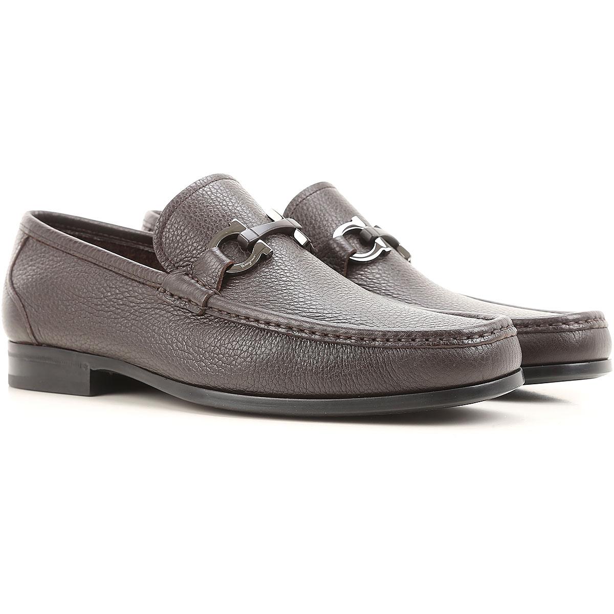 Image of Salvatore Ferragamo Loafers for Men, Dark Brown, Leather, 2017, 10 11 6 6.5 7.5 8.5 9 9.5