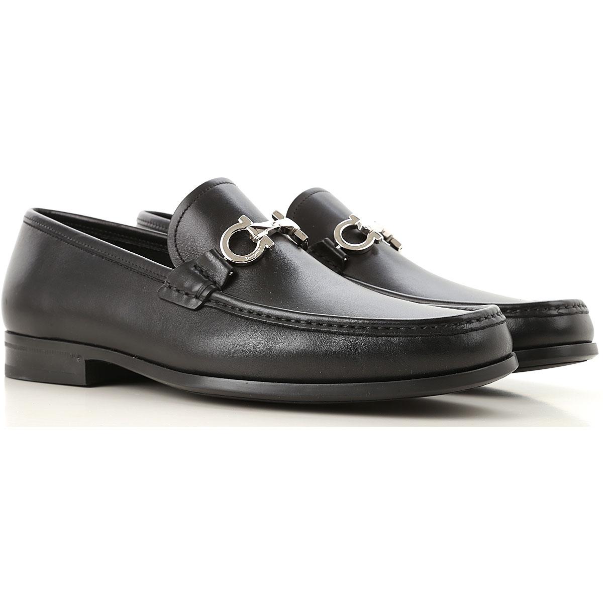 Salvatore Ferragamo Loafers for Men On Sale, Black, Leather, 2019, 7 8