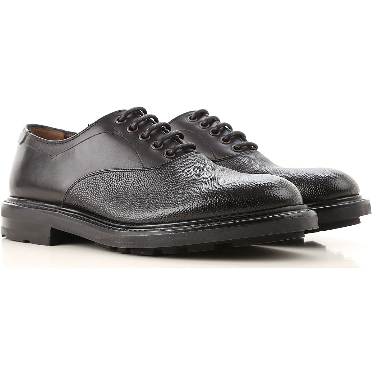 Salvatore Ferragamo Lace Up Shoes for Men Oxfords, Derbies and Brogues On Sale, Black, Leather, 2019, 7 9