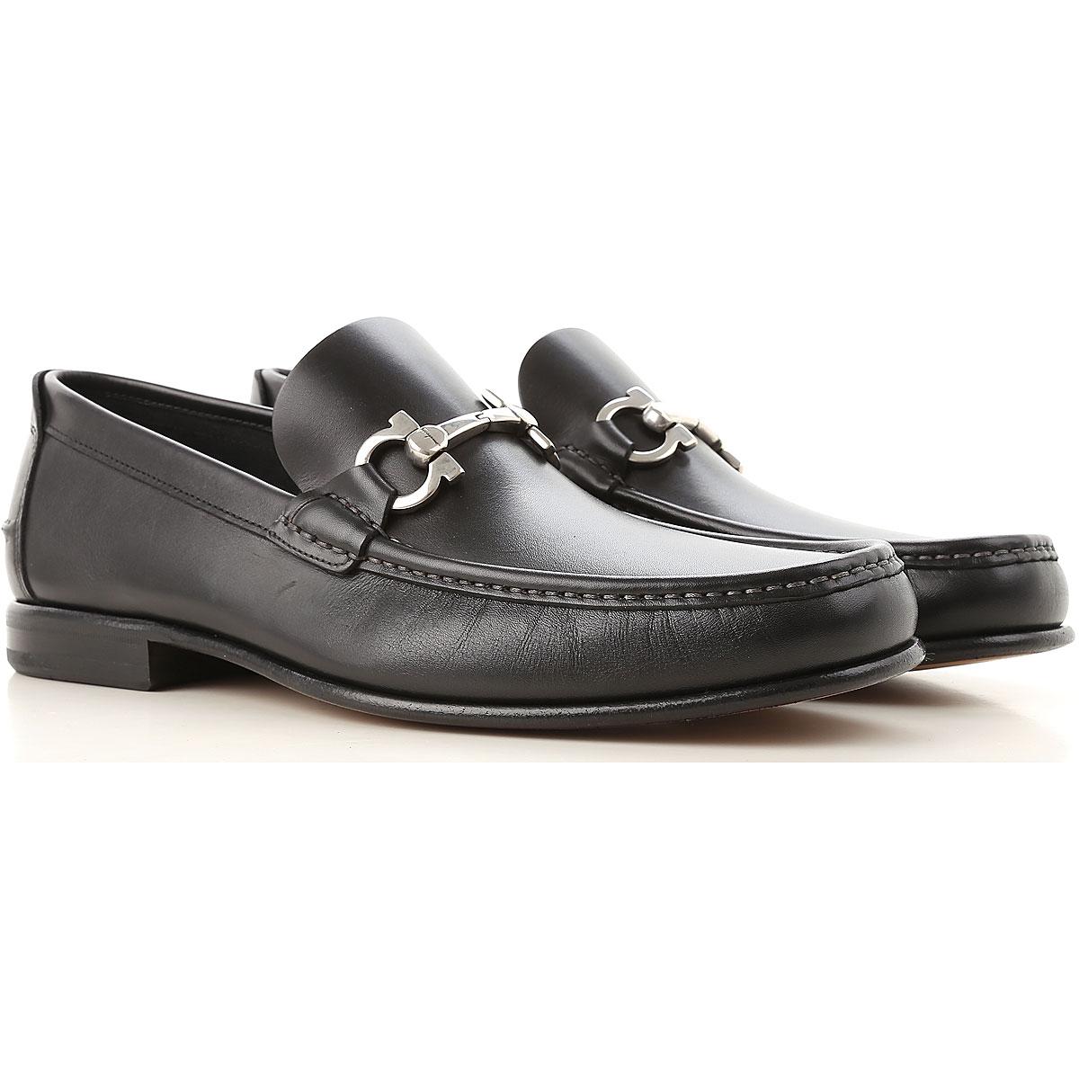 Image of Salvatore Ferragamo Loafers for Men, Black, Leather, 2017, 10 9 9.5