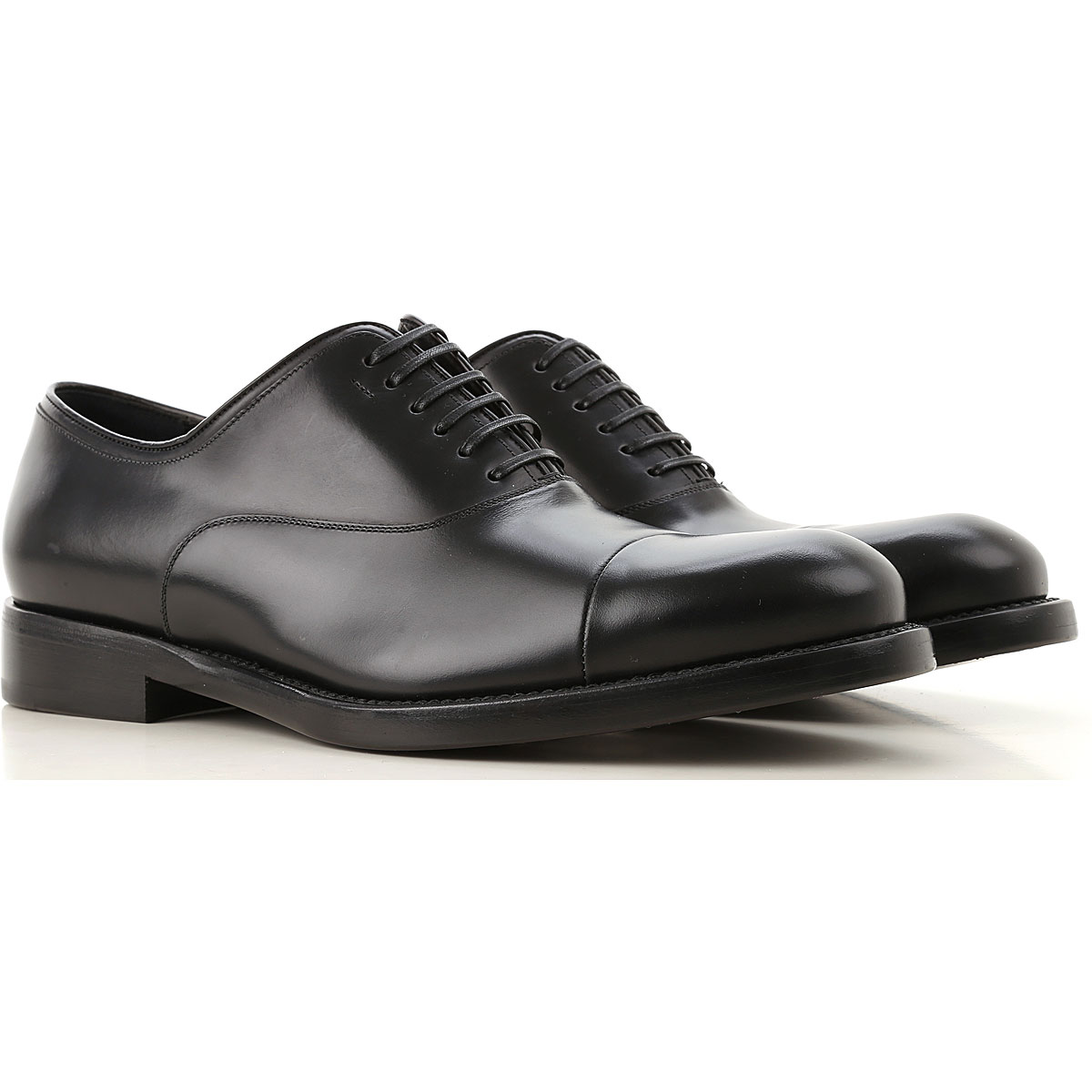 Salvatore Ferragamo Lace Up Shoes for Men Oxfords, Derbies and Brogues On Sale in Outlet, Black, Calf Leather, 2019, 8 8.5