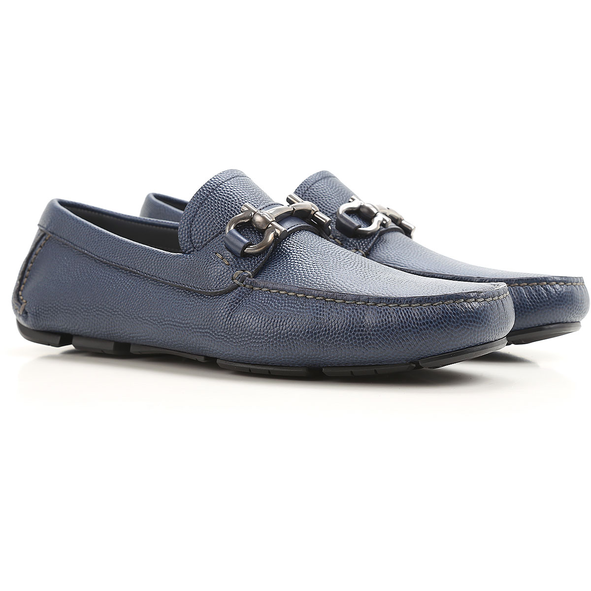 Image of Salvatore Ferragamo Loafers for Men On Sale in Outlet, Bluette, Leather, 2017, 6 8.5