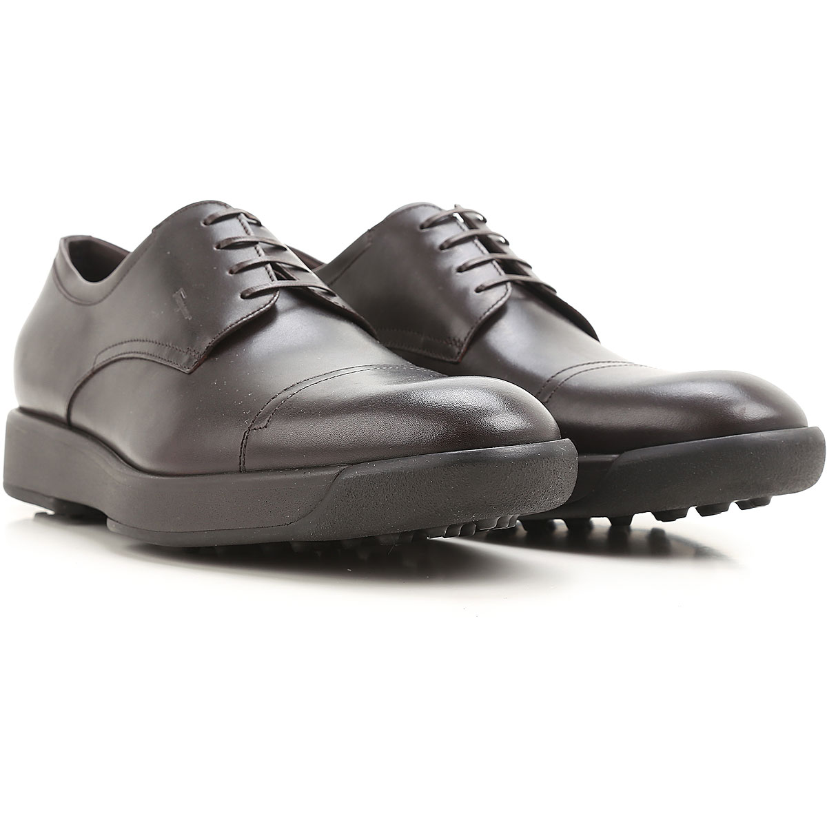 Image of Salvatore Ferragamo Lace Up Shoes for Men Oxfords, Derbies and Brogues On Sale in Outlet, Dark Chocolate, Leather, 2017, 7 9 9.5