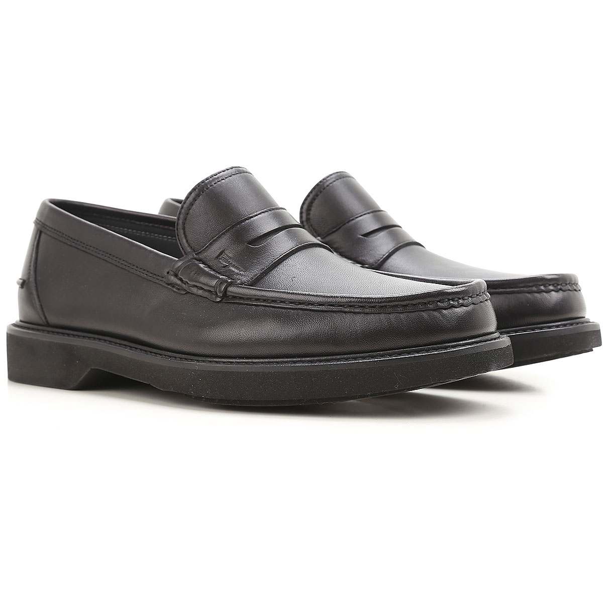 Image of Salvatore Ferragamo Loafers for Men On Sale in Outlet, Black, Leather, 2017, 11.5 12 7 7.5