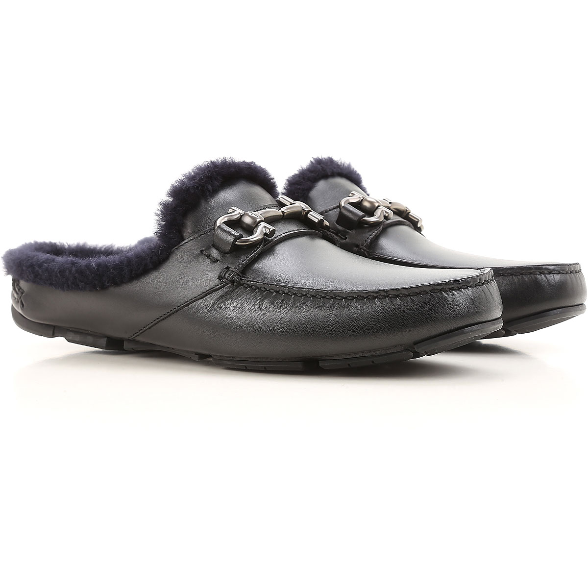 Salvatore Ferragamo Loafers for Men On Sale in Outlet, Black, Leather, 2019, 8 9