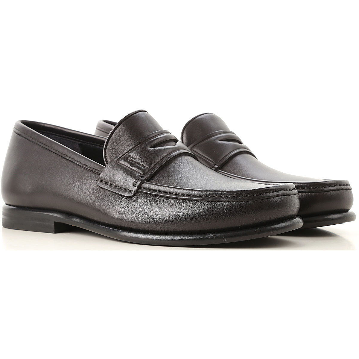 Salvatore Ferragamo Loafers for Men On Sale in Outlet, Black, Leather, 2019, 6 7