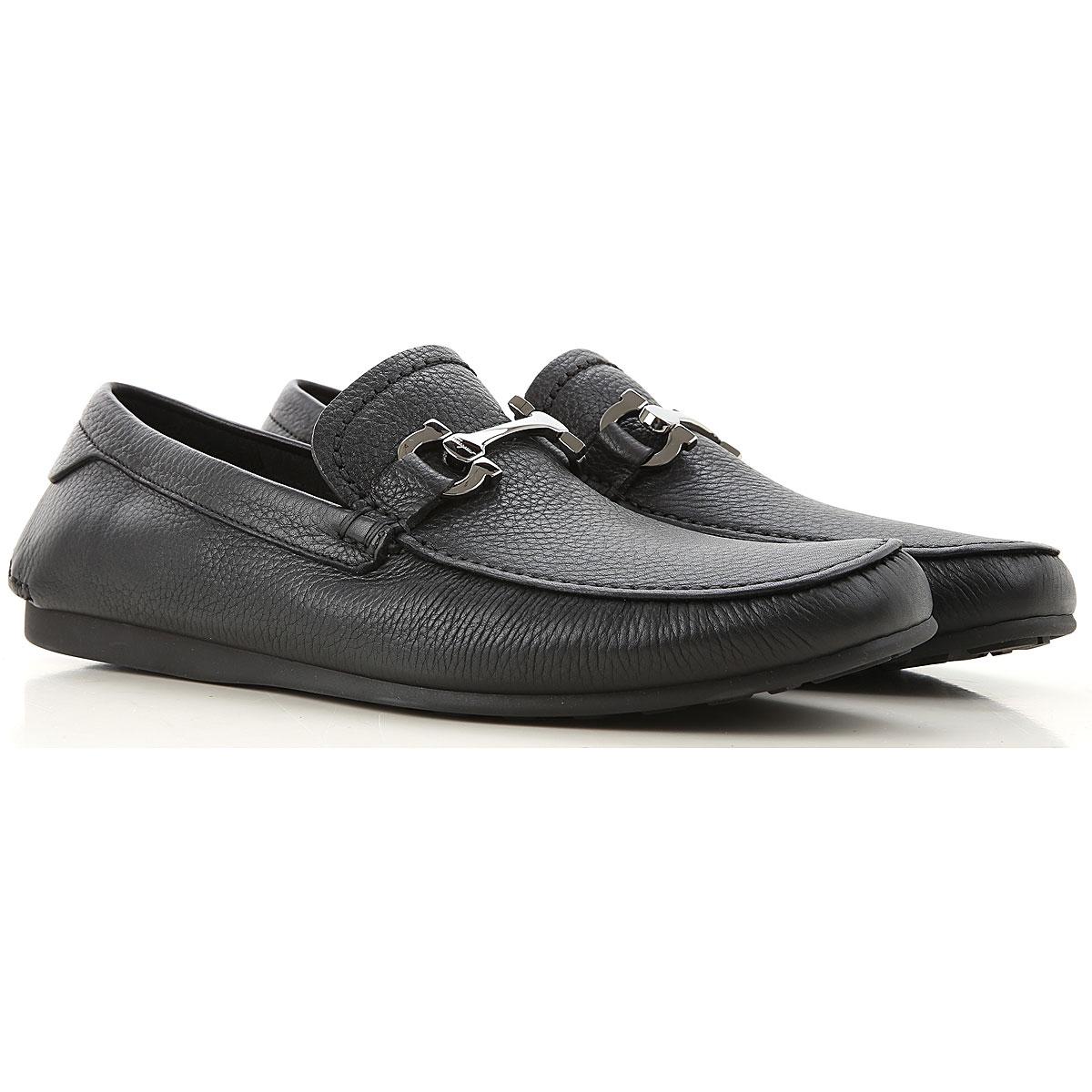 Salvatore Ferragamo Loafers for Men On Sale, Black, Leather, 2019, 8 8.5