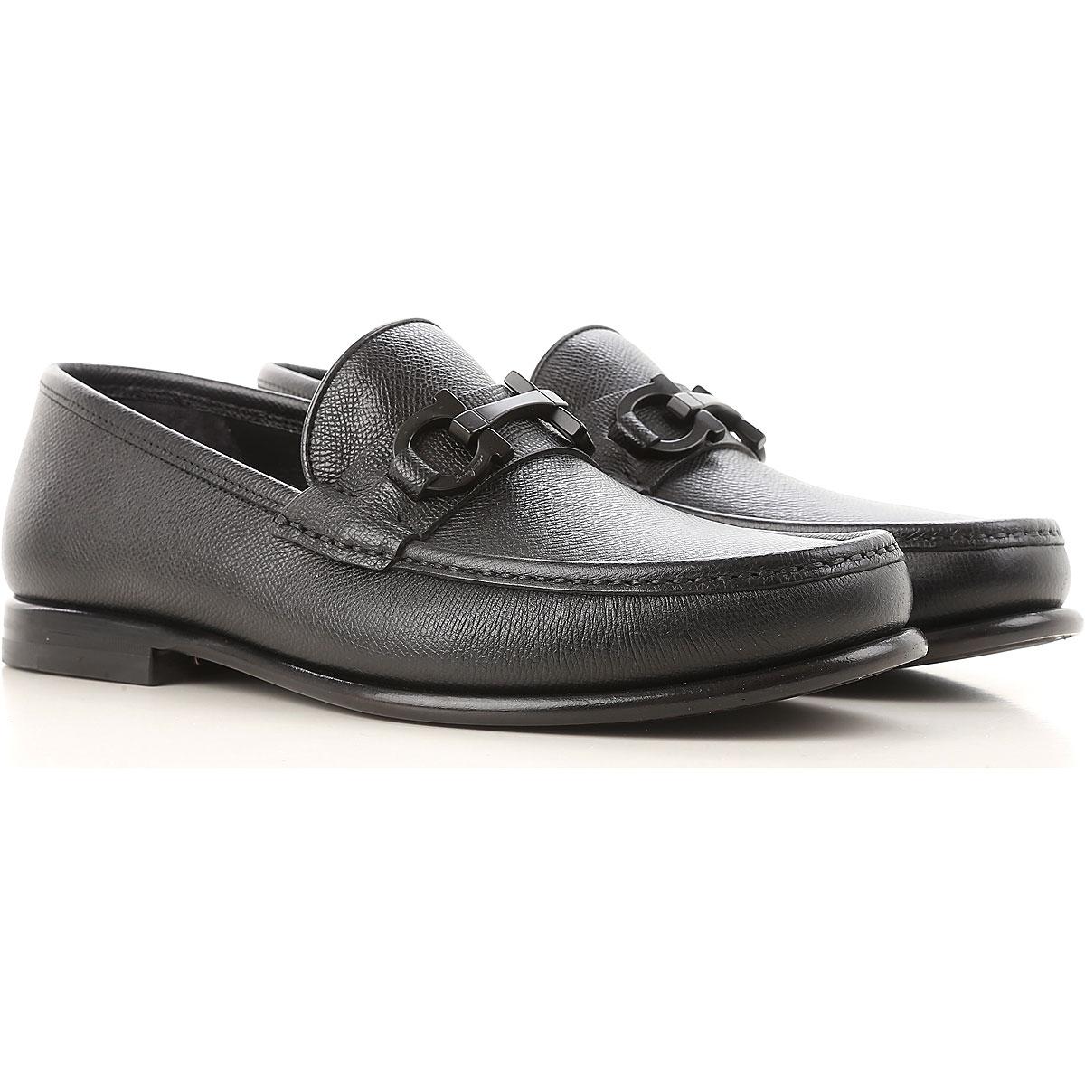 Image of Salvatore Ferragamo Loafers for Men On Sale, Black, Leather, 2017, 7.5 8 8.5 9.5