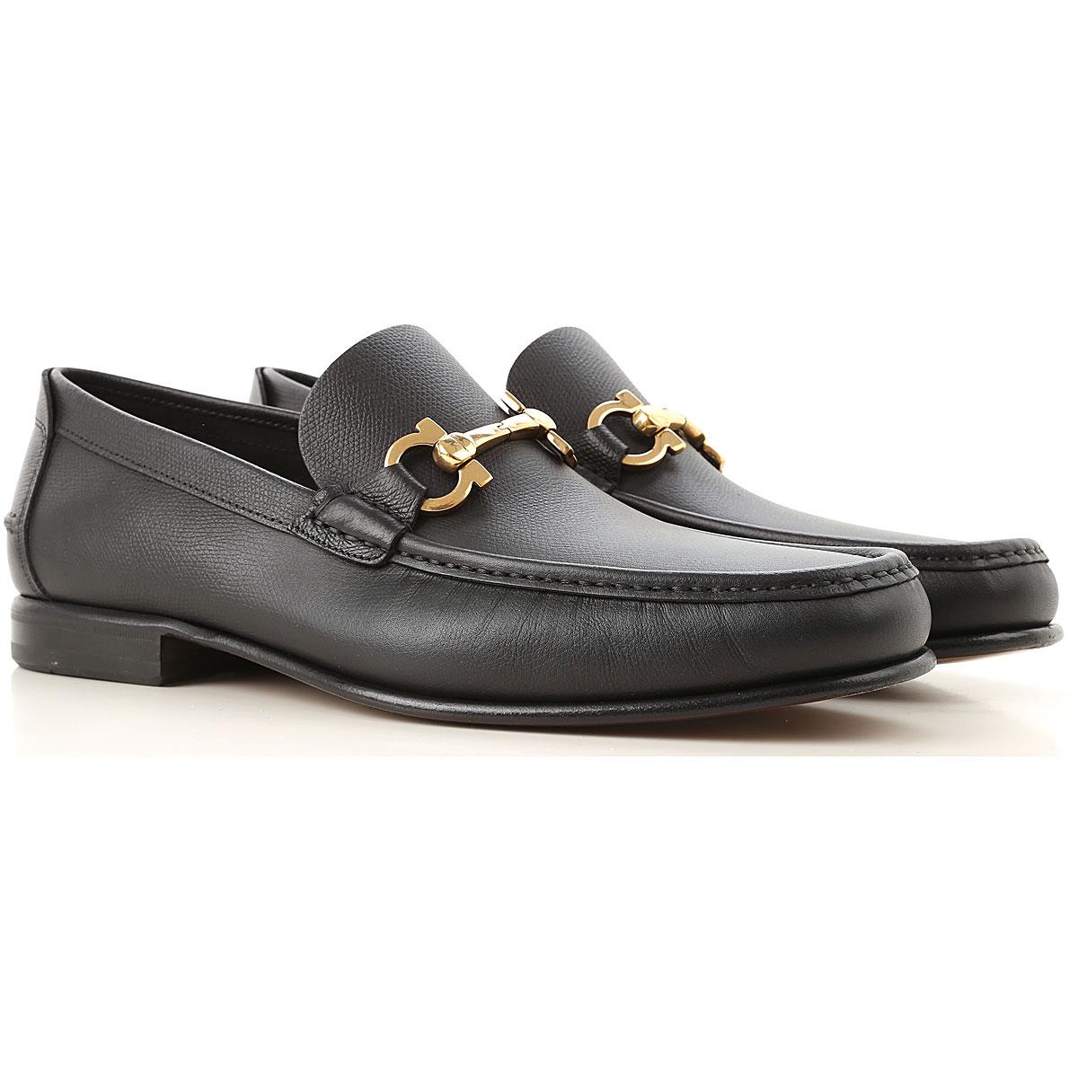 Salvatore Ferragamo Loafers for Men On Sale, Black, Leather, 2019, 7 9.5