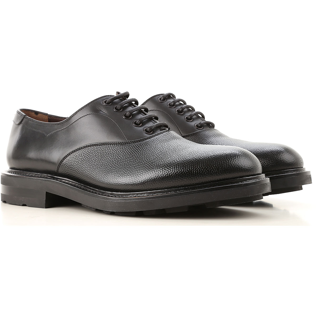 Salvatore Ferragamo Lace Up Shoes for Men Oxfords, Derbies and Brogues On Sale, Black, Leather, 2019, 10 10.5 11 12 7 8 9 9.5
