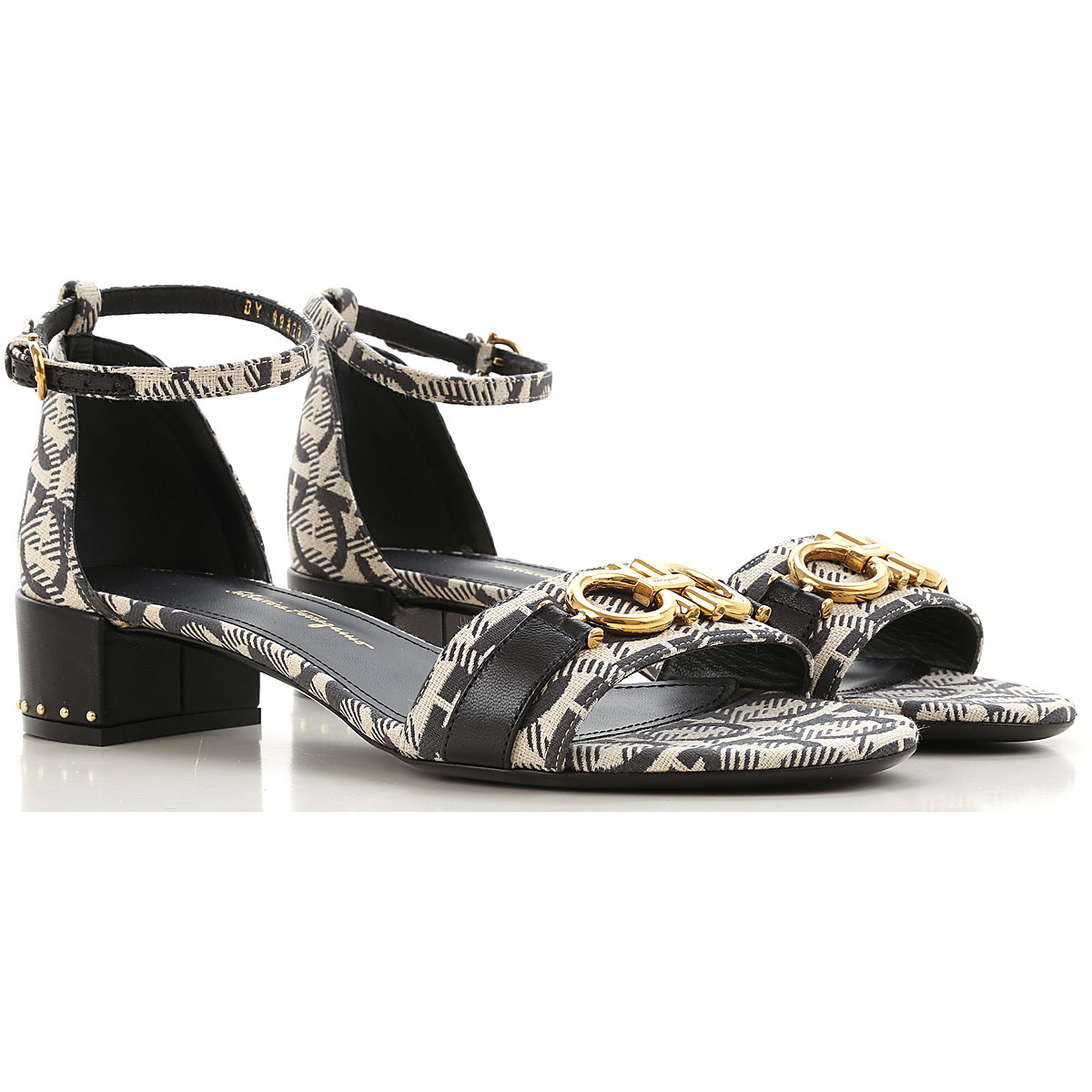 Salvatore Ferragamo Sandals for Women On Sale, Black, Textile, 2019, 5.5 6.5 7 8 8.5 9.5