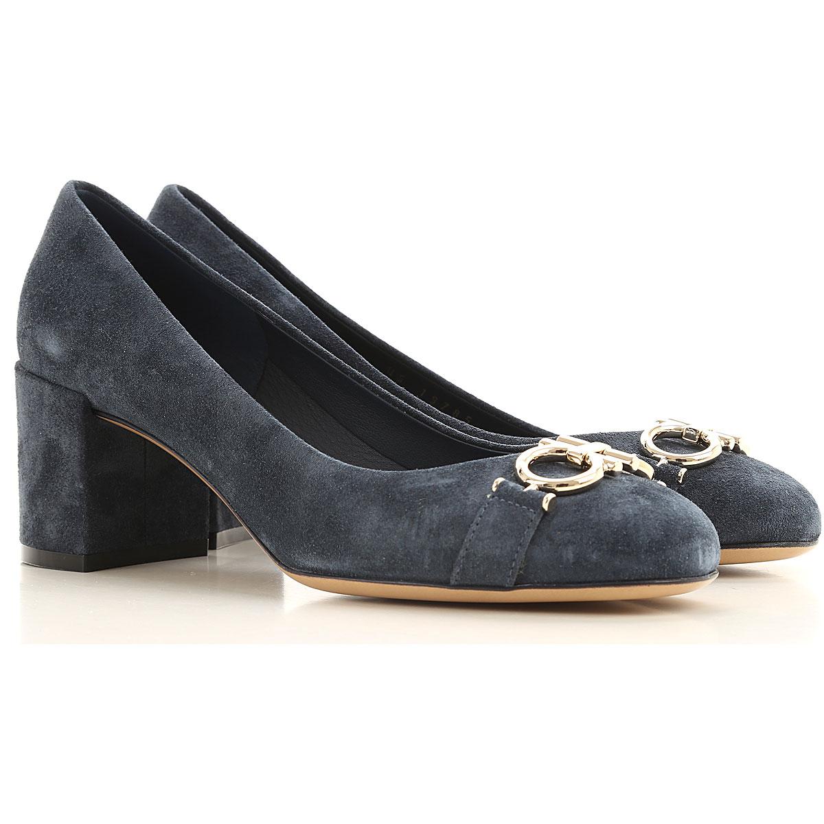 Salvatore Ferragamo Pumps & High Heels for Women On Sale, Blu Navy, Suede leather, 2019, 5 5.5 6 6.5 7 8 8.5 9.5