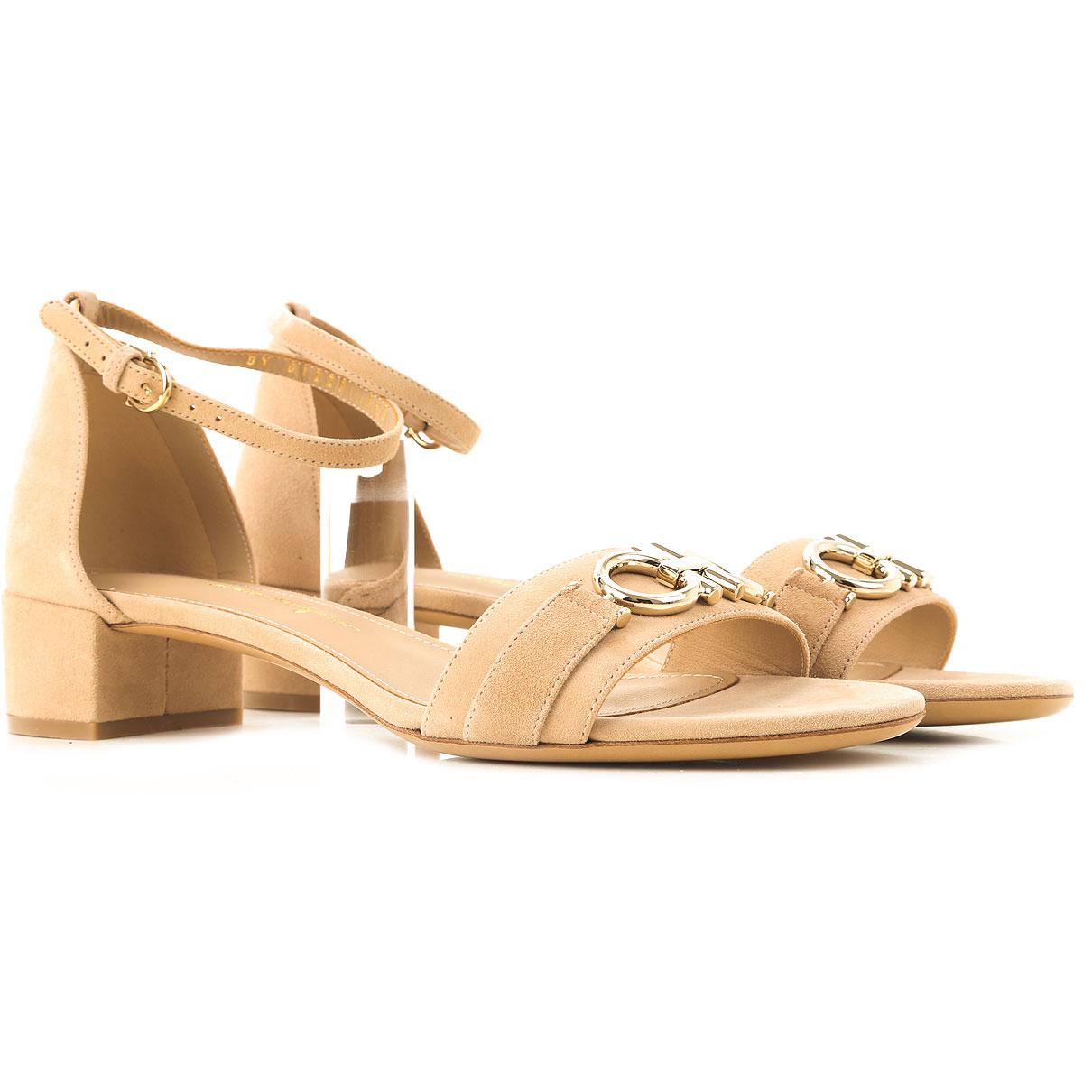 Salvatore Ferragamo Sandals for Women, Almond, Suede leather, 2019, 5.5 6.5 7 8 8.5