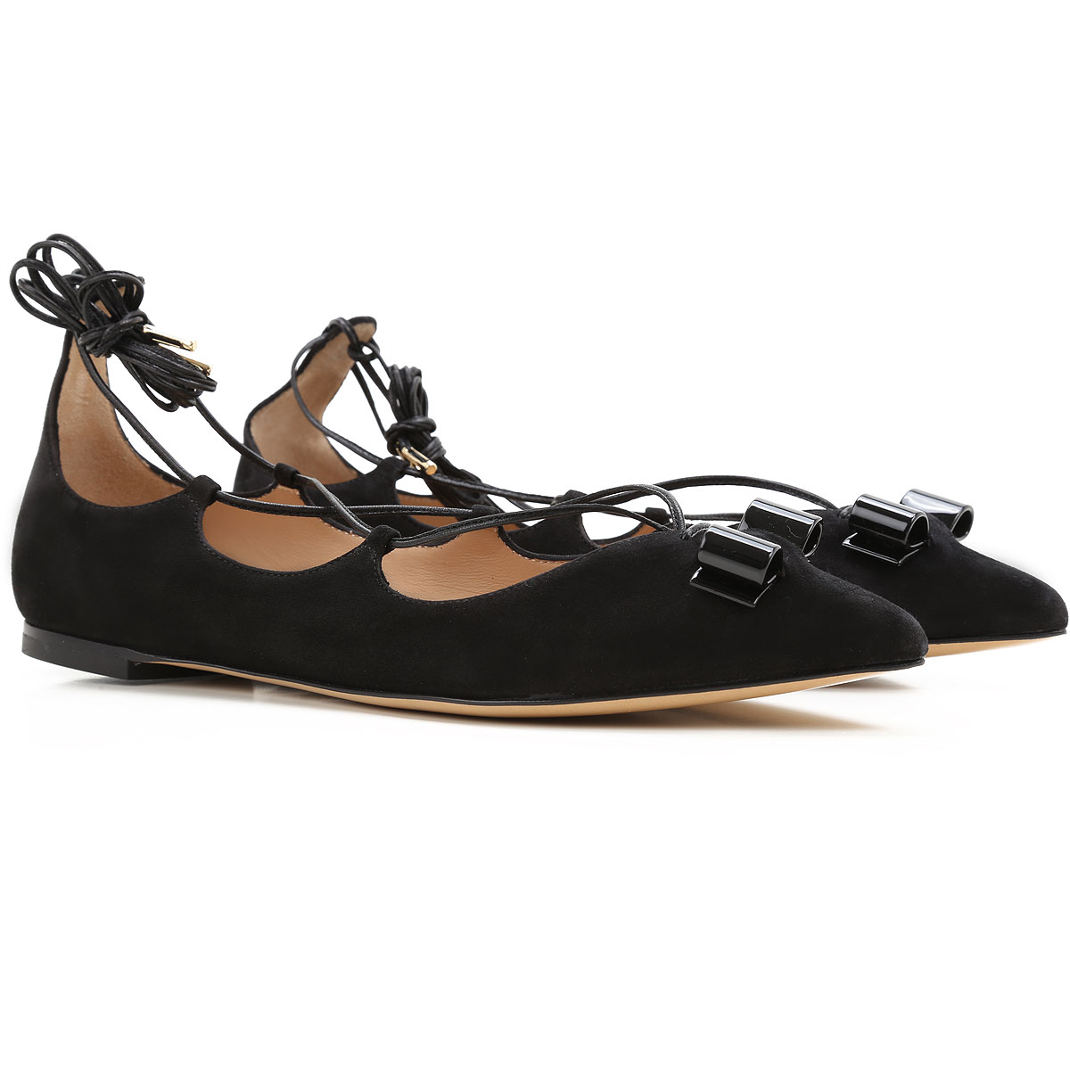 Image of Salvatore Ferragamo Ballet Flats Ballerina Shoes for Women On Sale in Outlet, Black, Suede leather, 2017, 5.5 6 7 8 8.5 9.5