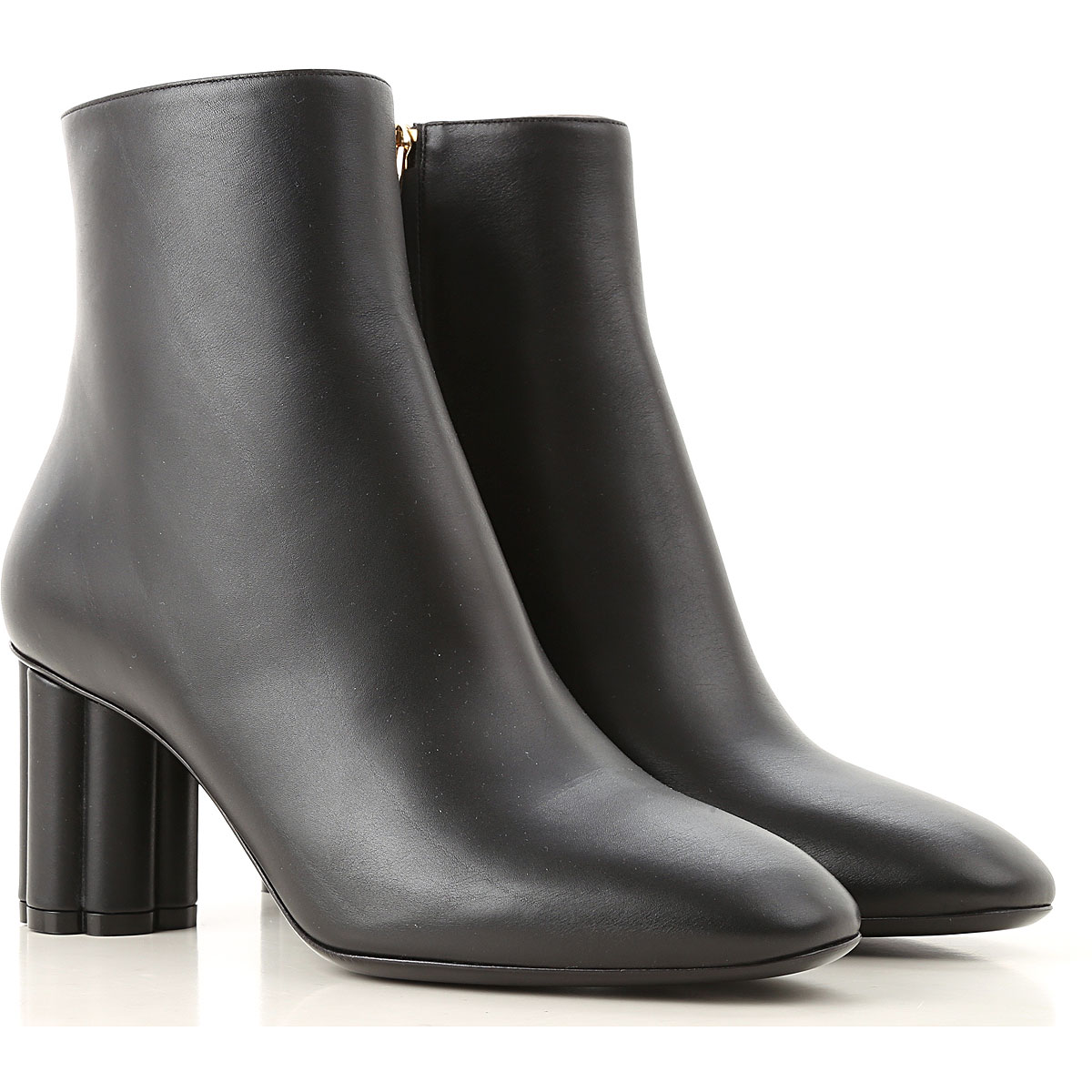 Image of Salvatore Ferragamo Boots for Women, Booties, Black, Leather, 2017, 10 6 7 8 9