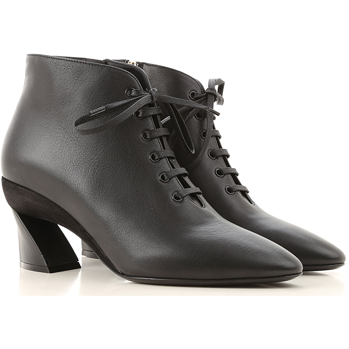 Salvatore Ferragamo Boots for Women, Booties On Sale, Black, Leather, 2019, 5 5.5 7 8.5 9