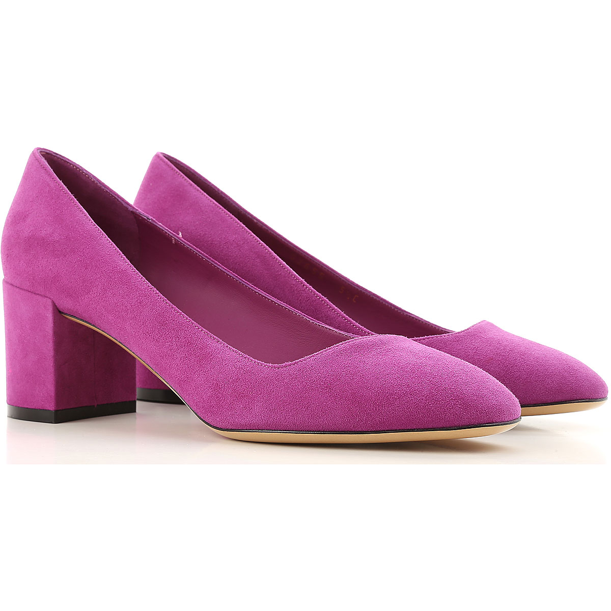 Salvatore Ferragamo Pumps & High Heels for Women On Sale in Outlet, Magenta, Suede leather, 2019, 5.5 6.5