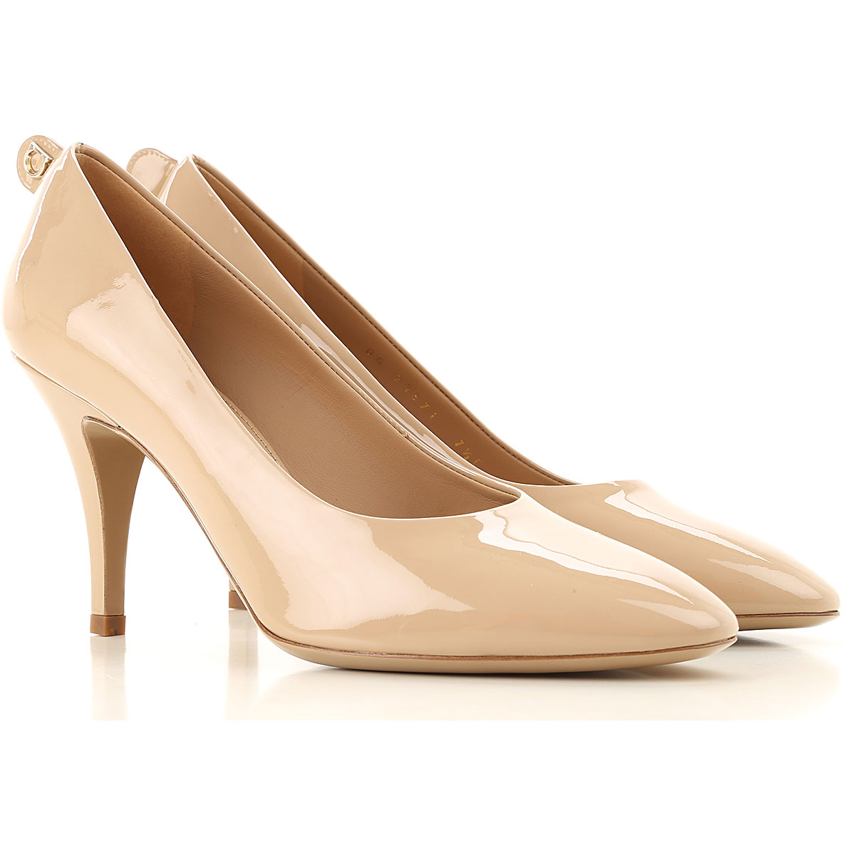 Salvatore Ferragamo Pumps & High Heels for Women On Sale, Almond, Patent Leather, 2019, 5.5 6.5 8.5 9.5