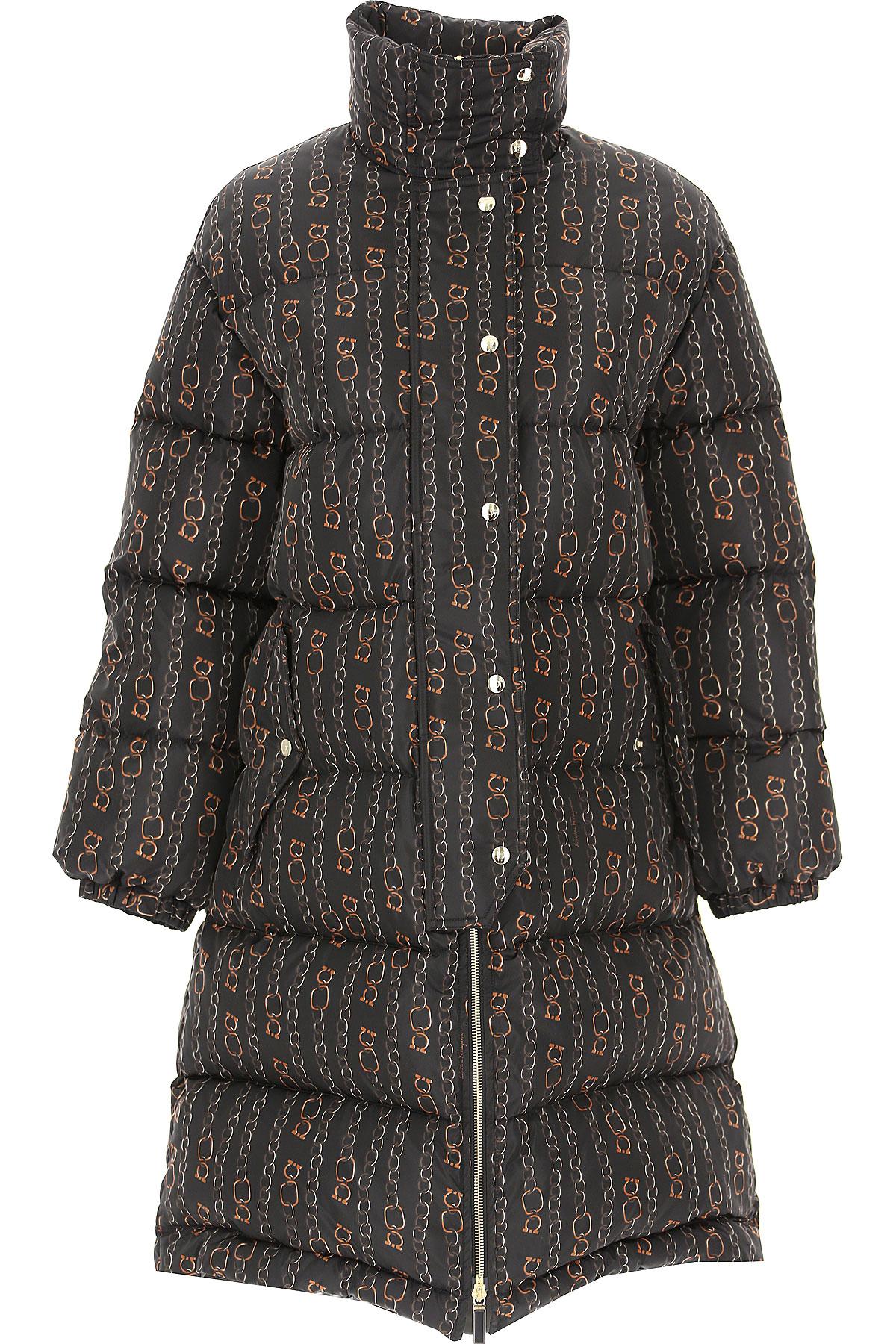 Salvatore Ferragamo Down Jacket for Women, Puffer Ski Jacket On Sale, Black, polyamide, 2019, 10 8