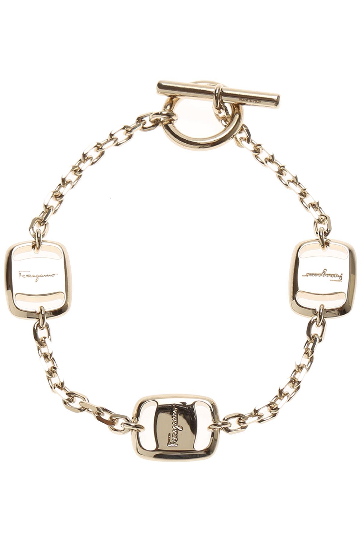 Image of Salvatore Ferragamo Bracelet for Women, Gold, Brass, 2017