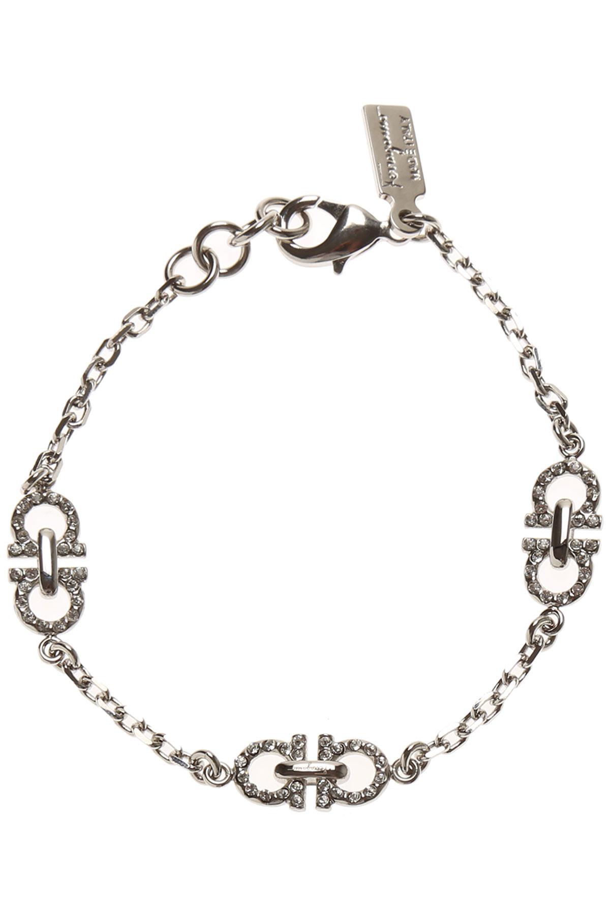 Image of Salvatore Ferragamo Bracelet for Women, Silver, Brass, 2017