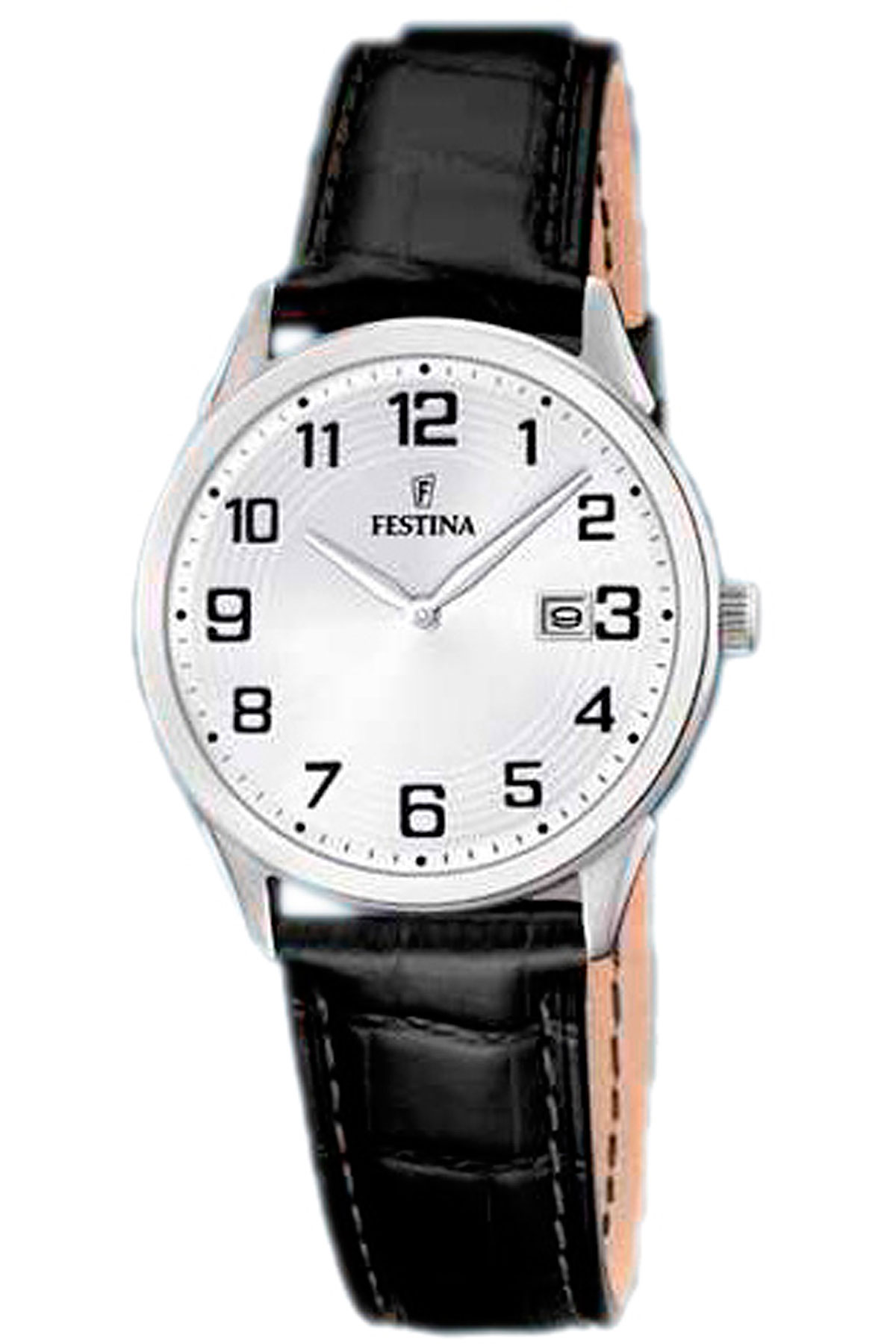 Image of Festina Watch for Women, Black, Leather, 2017